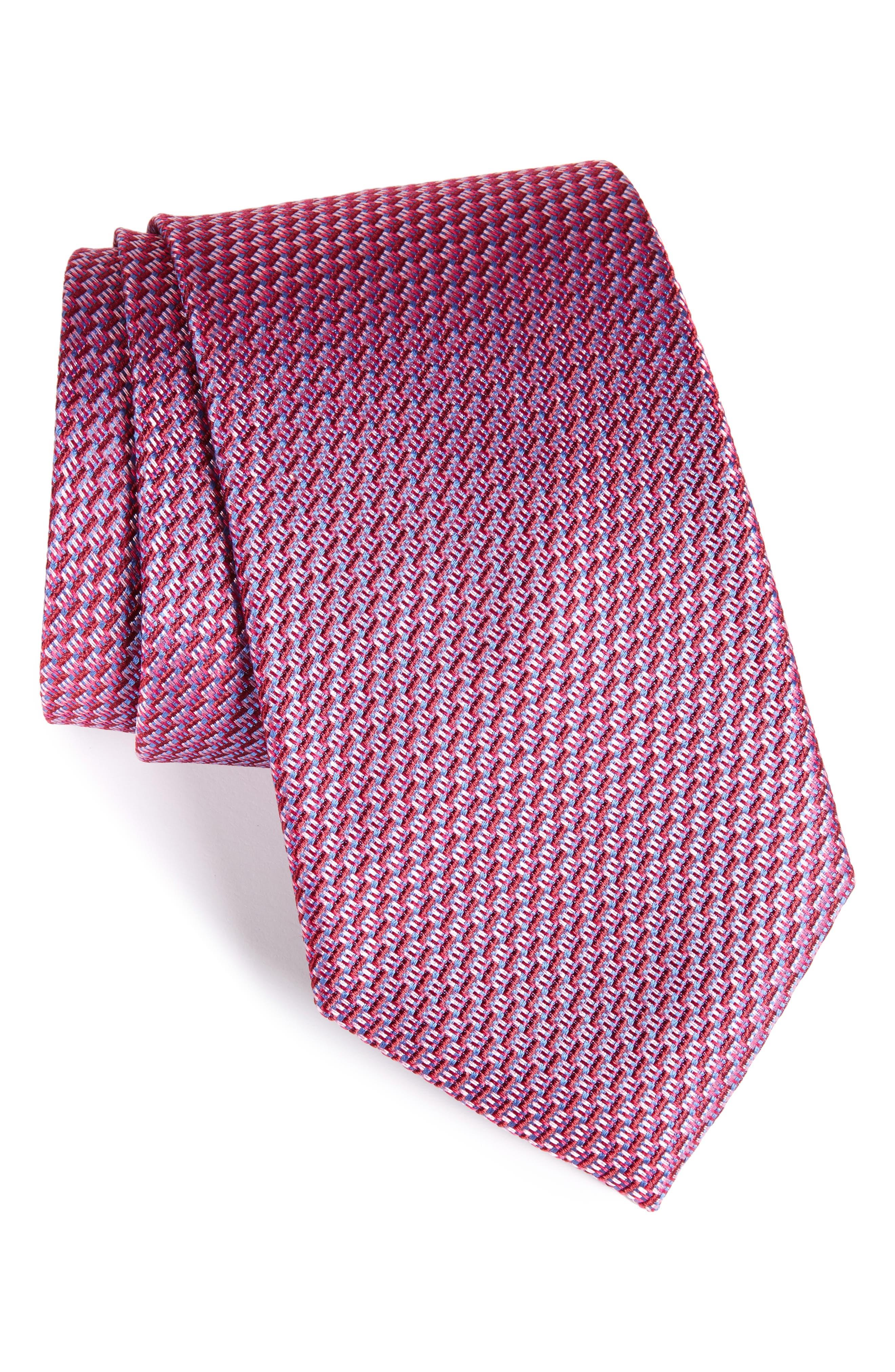 Tech Woven Silk Tie,                         Main,                         color, Pink