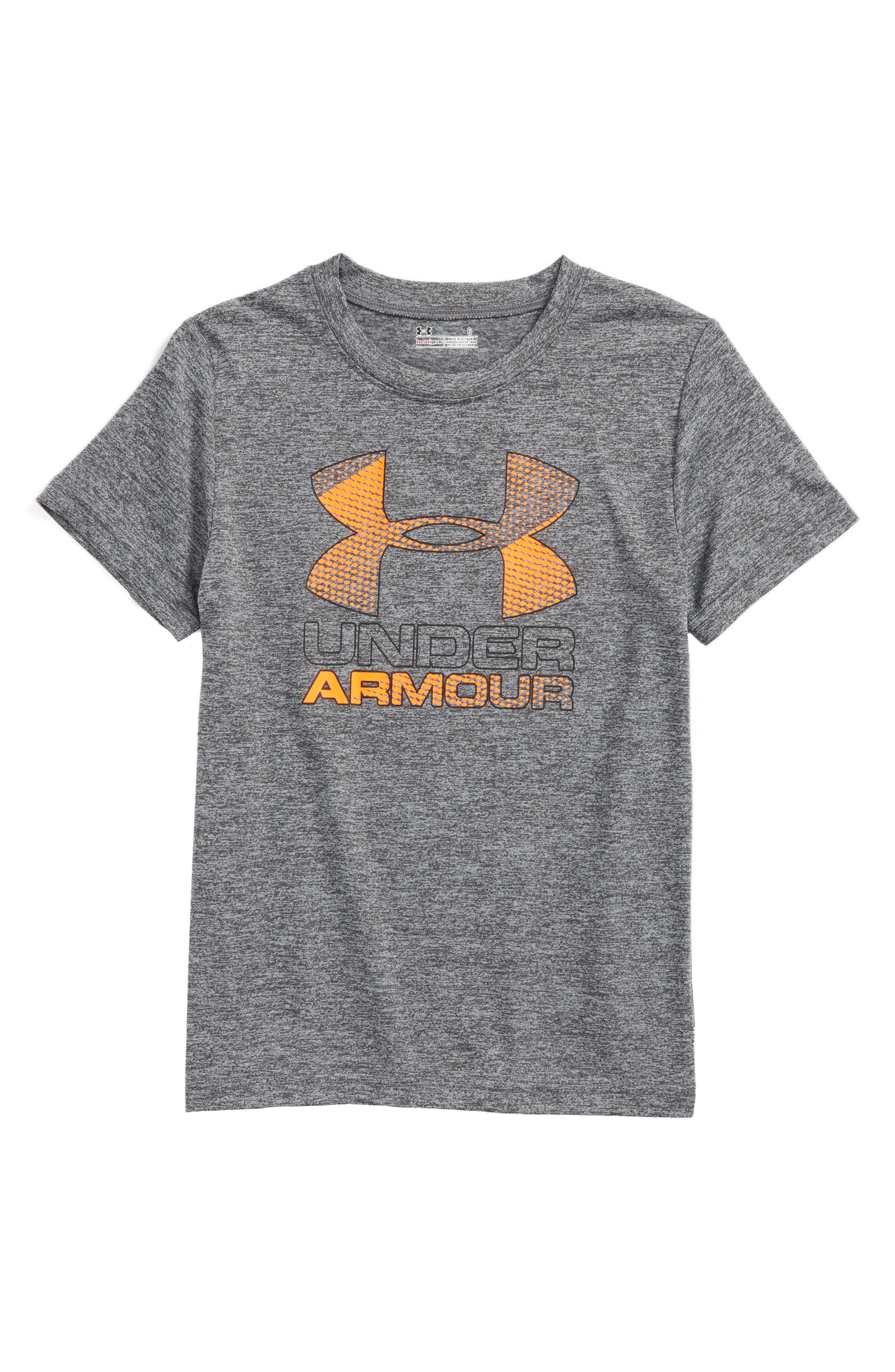 Under Armour Logo HeatGear® Shirt (Toddler Boys & Little Boys)