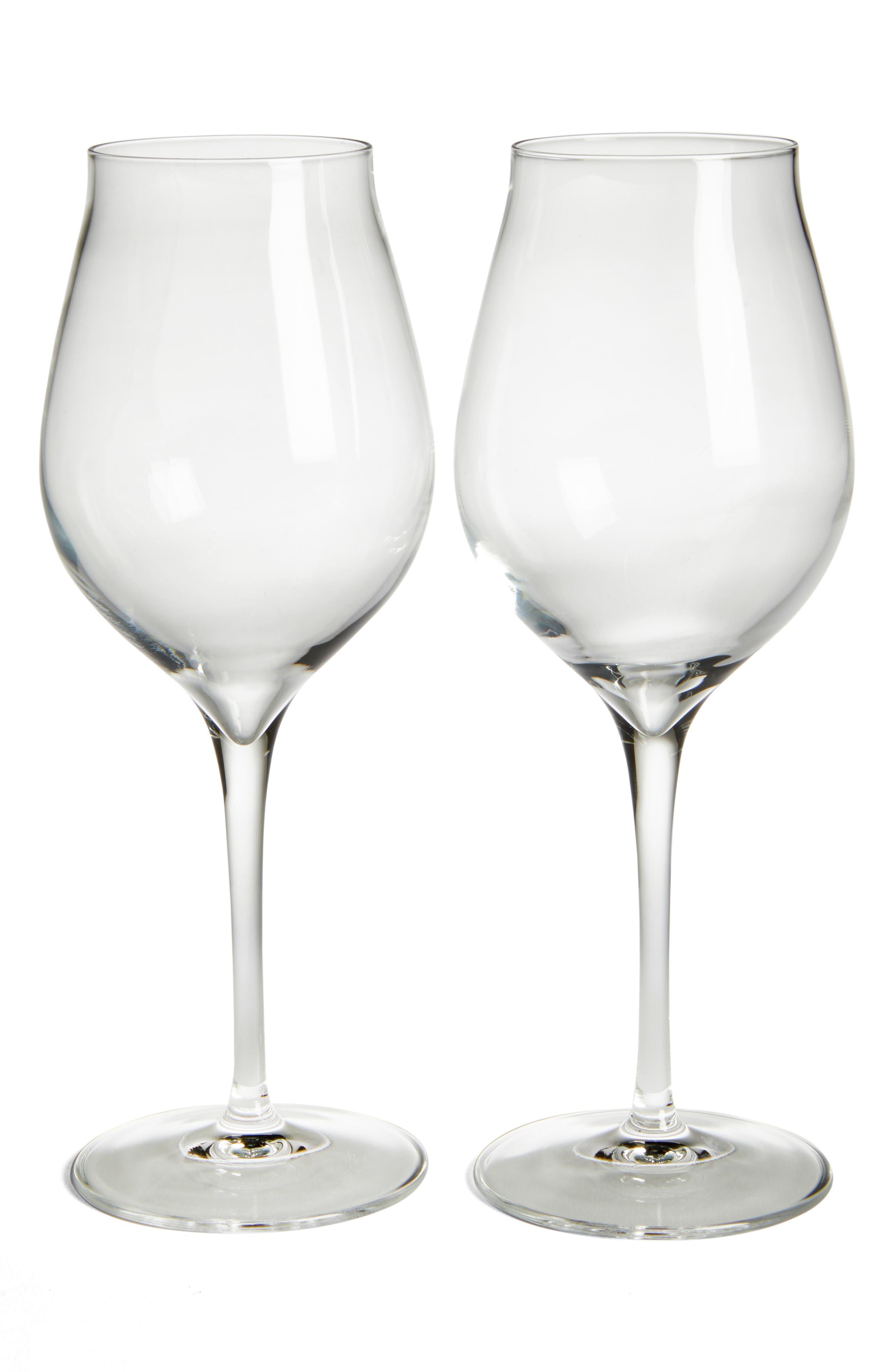 Luigi Bormiolo Vinea Malvasia/Orvieto Set of 2 White Wine Glasses,                         Main,                         color, Clear