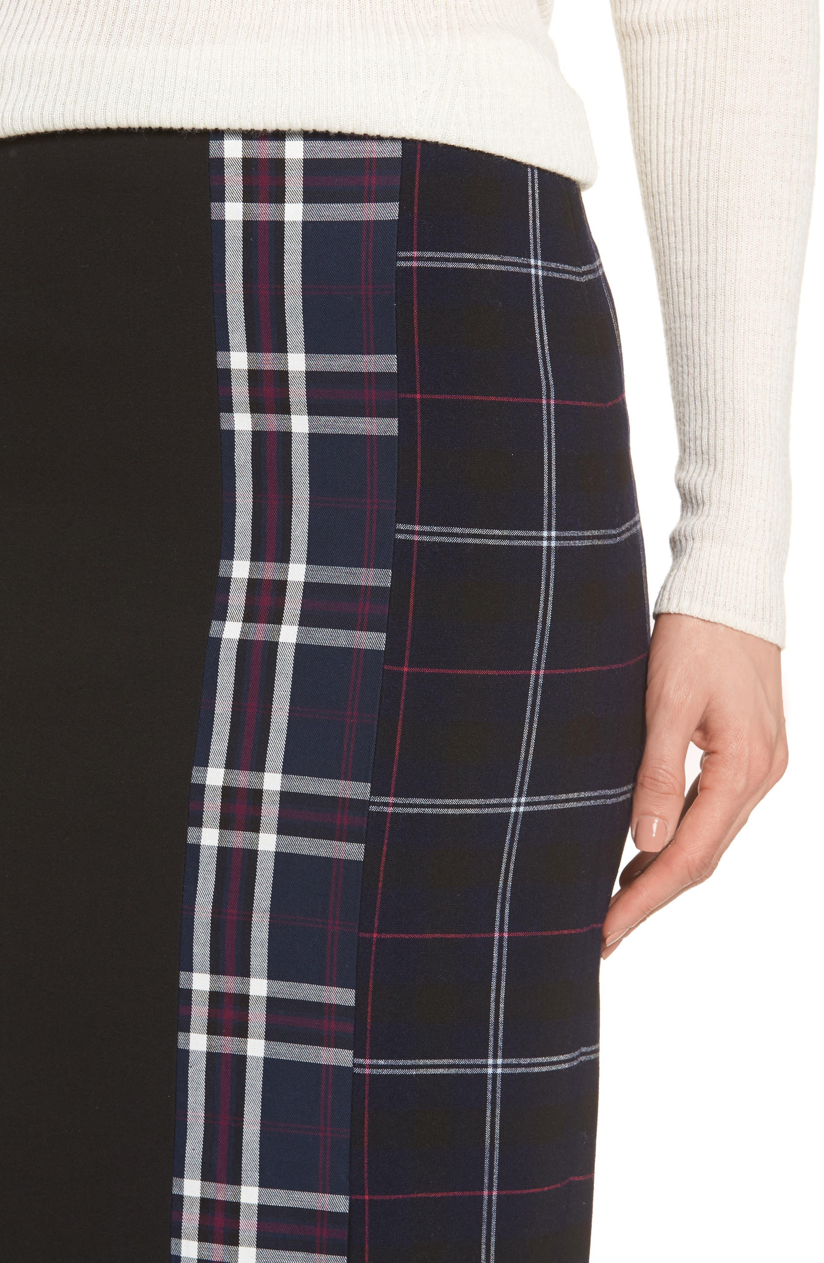 Alternate Image 4  - Halogen® Mixed Plaid Pencil Skirt