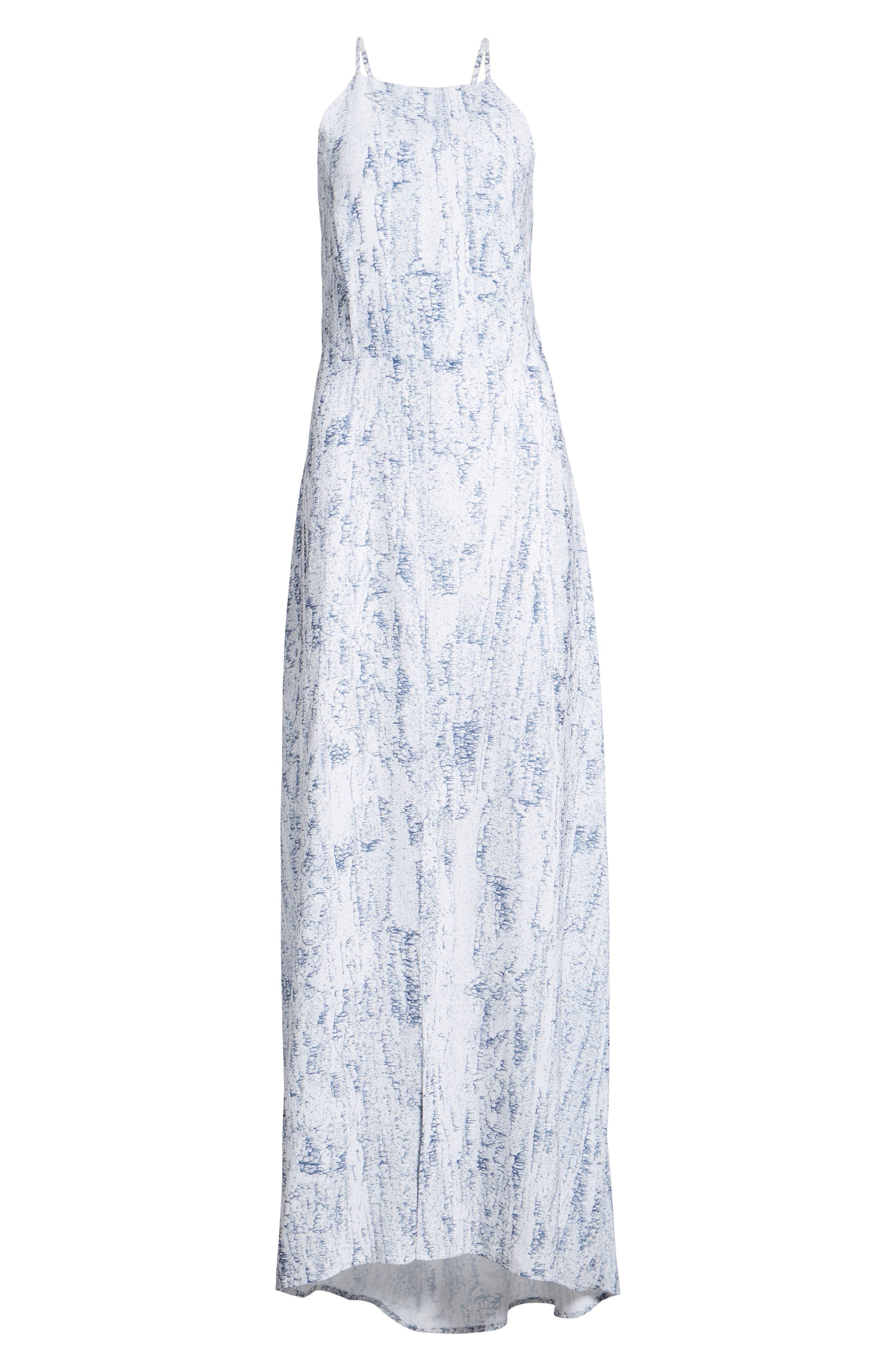 Halter Maxi Dress,                             Alternate thumbnail 6, color,                             Mulberry