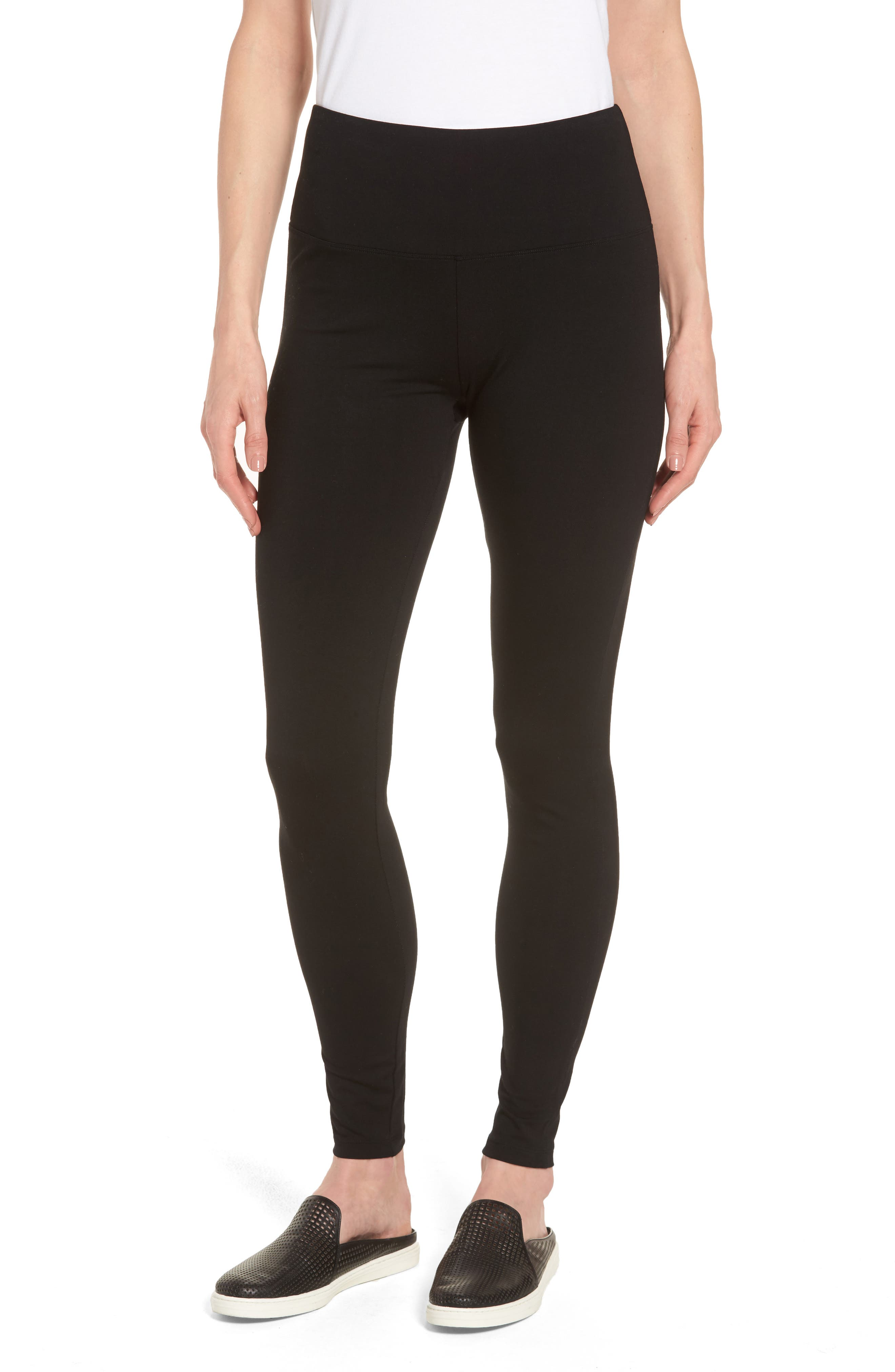 Alternate Image 4  - Caslon® High Waist Leggings (Regular & Petite)