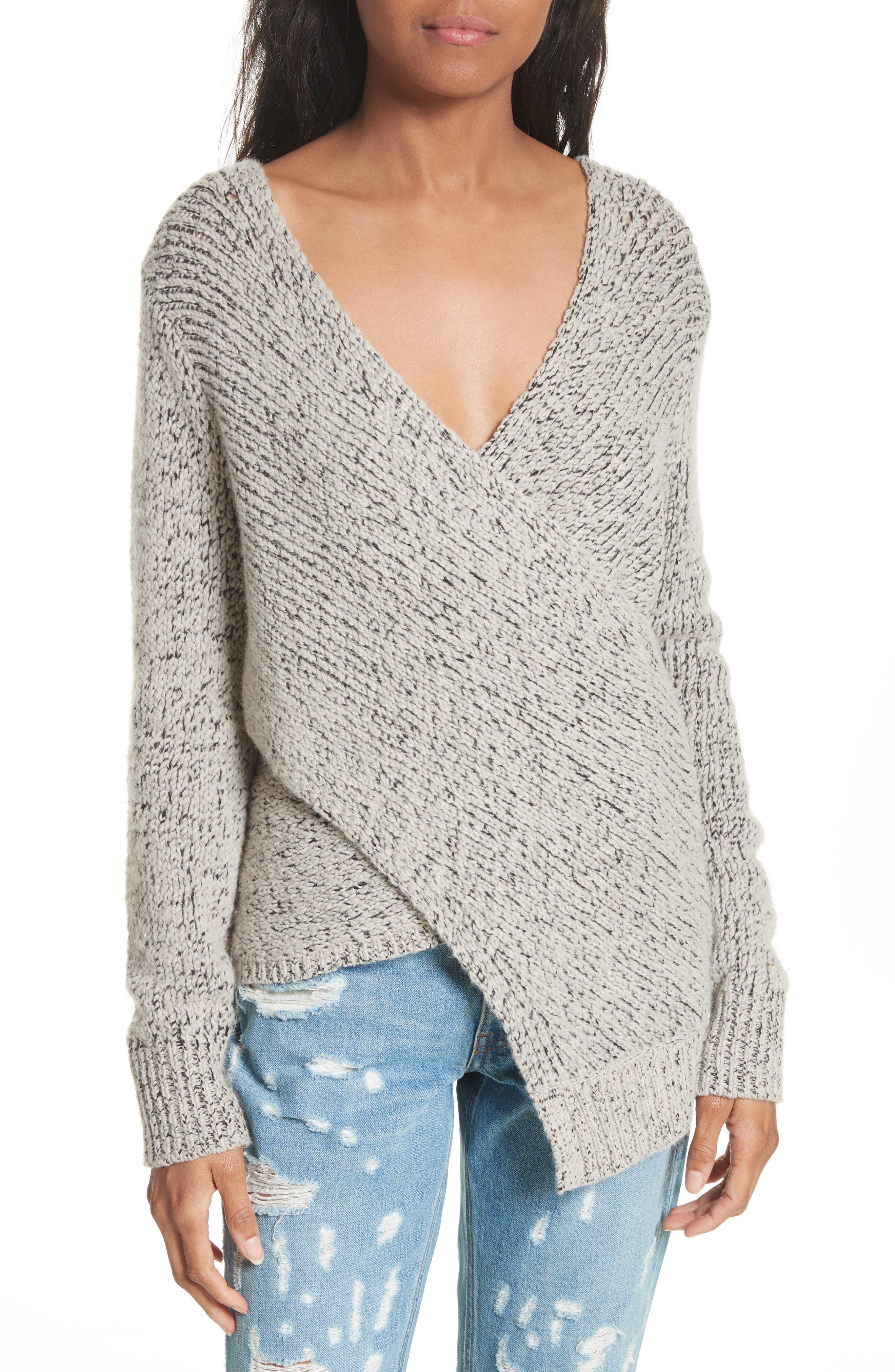 Main Image - Derek Lam 10 Crosby Asymmetrical Cross Front Sweater