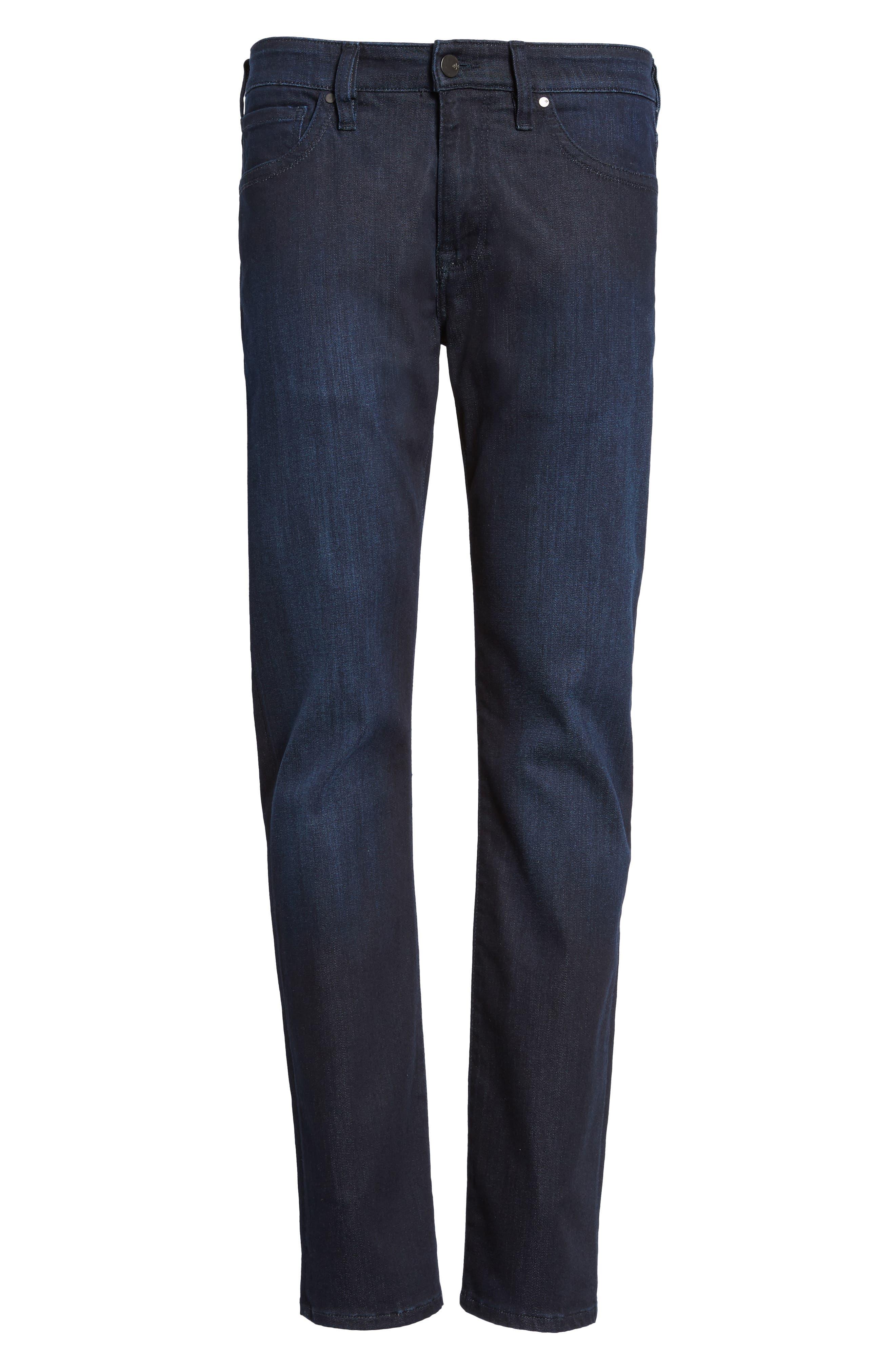 Alternate Image 6  - 34 Heritage Courage Straight Leg Jeans (Dark Rome)