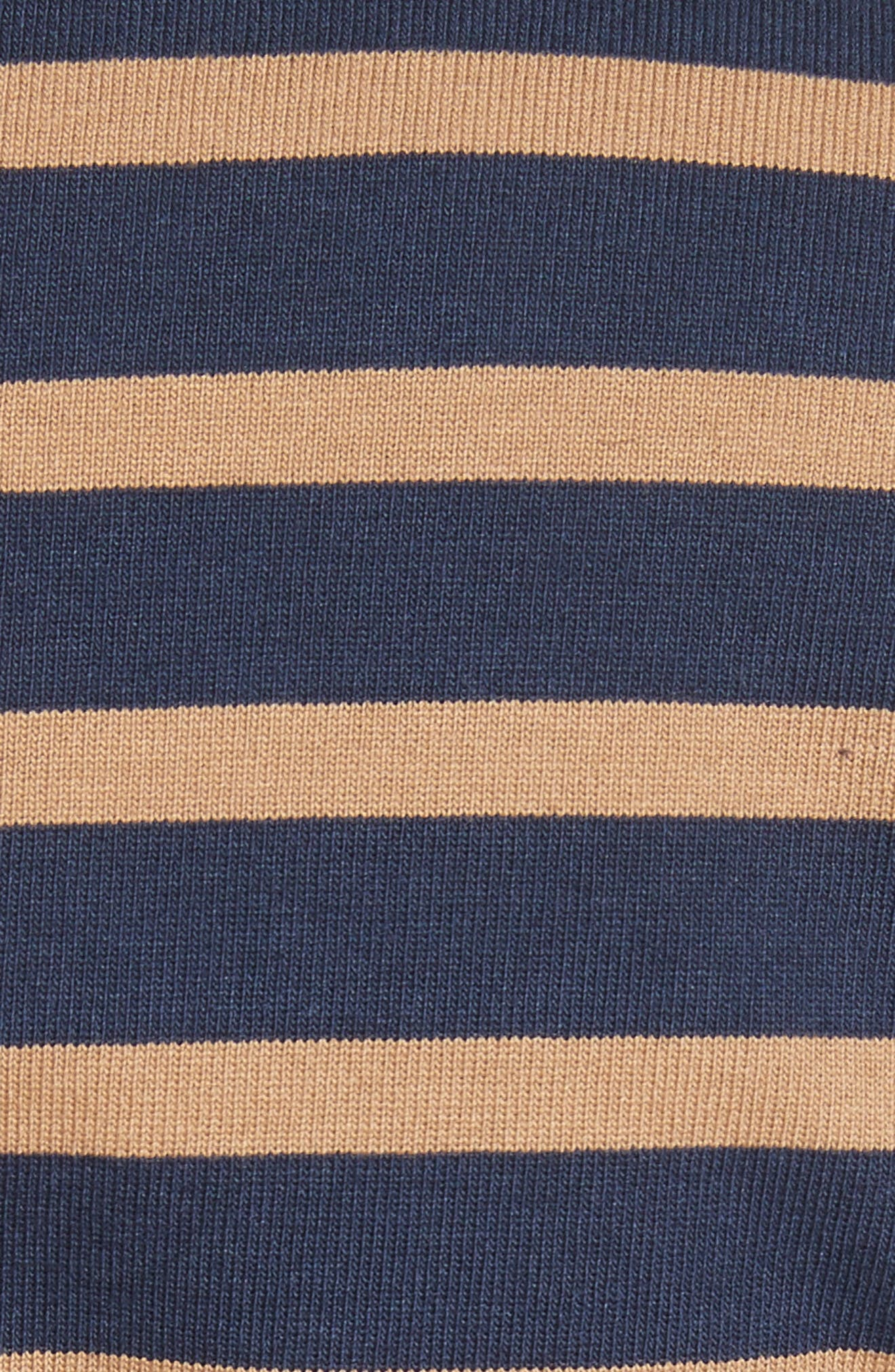 Stripe Wrap Top with Poplin Shirting Combo,                             Alternate thumbnail 5, color,                             Midnight/ Army