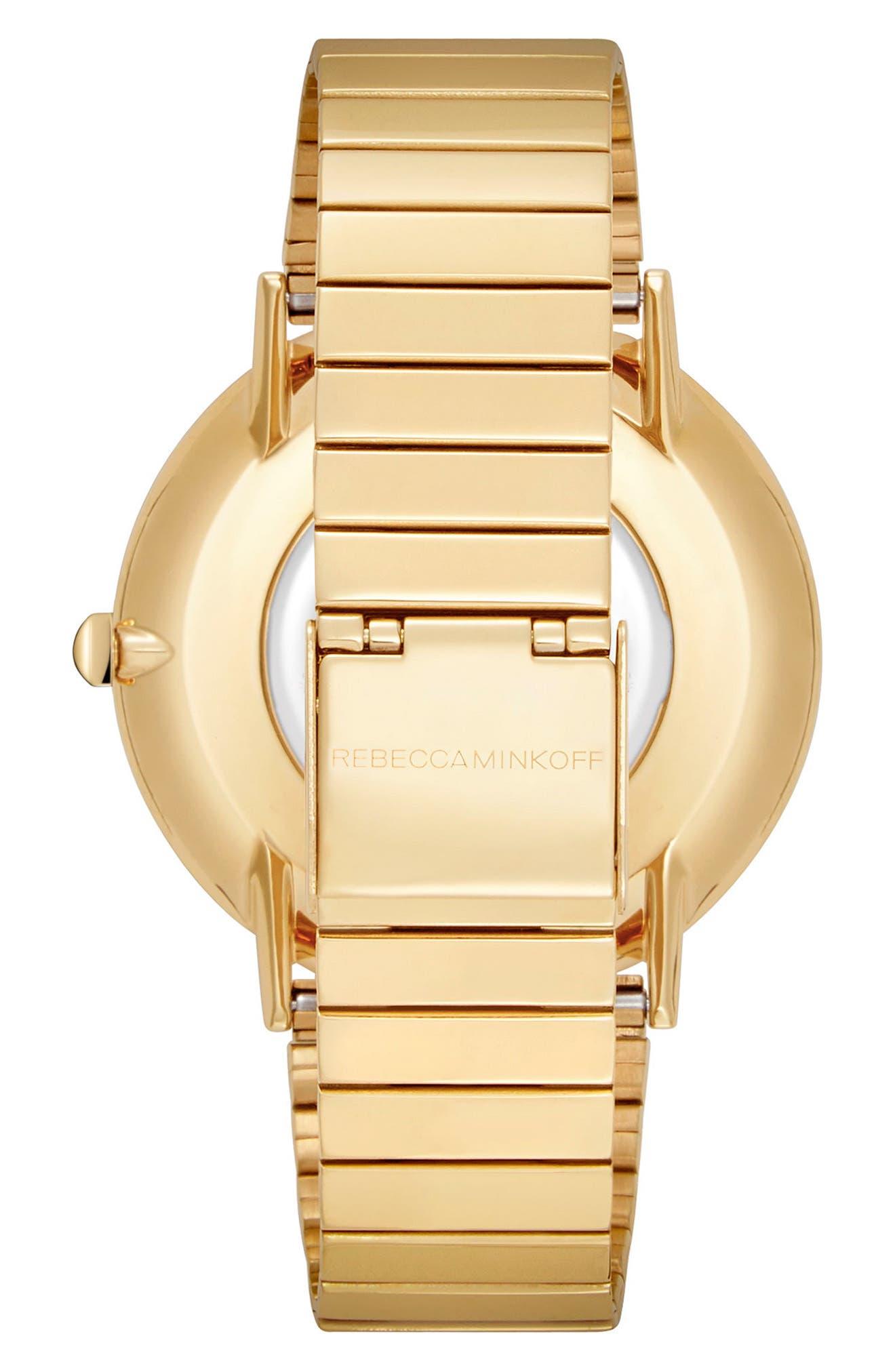 Major Bracelet Watch, 40mm,                             Alternate thumbnail 2, color,                             Gold/ Black/ Gold