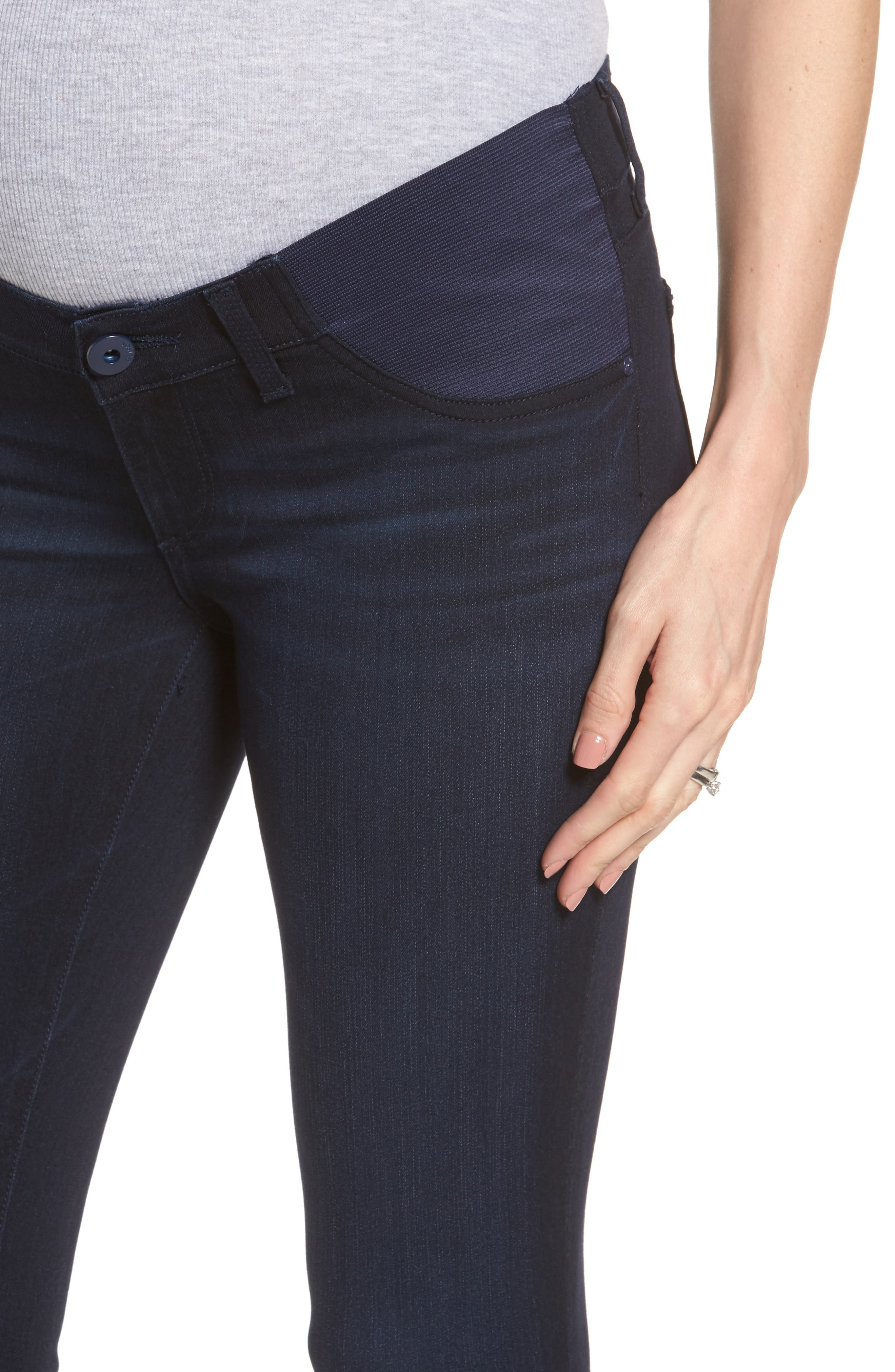 Emma Power Legging Maternity Jeans,                             Alternate thumbnail 4, color,                             Token