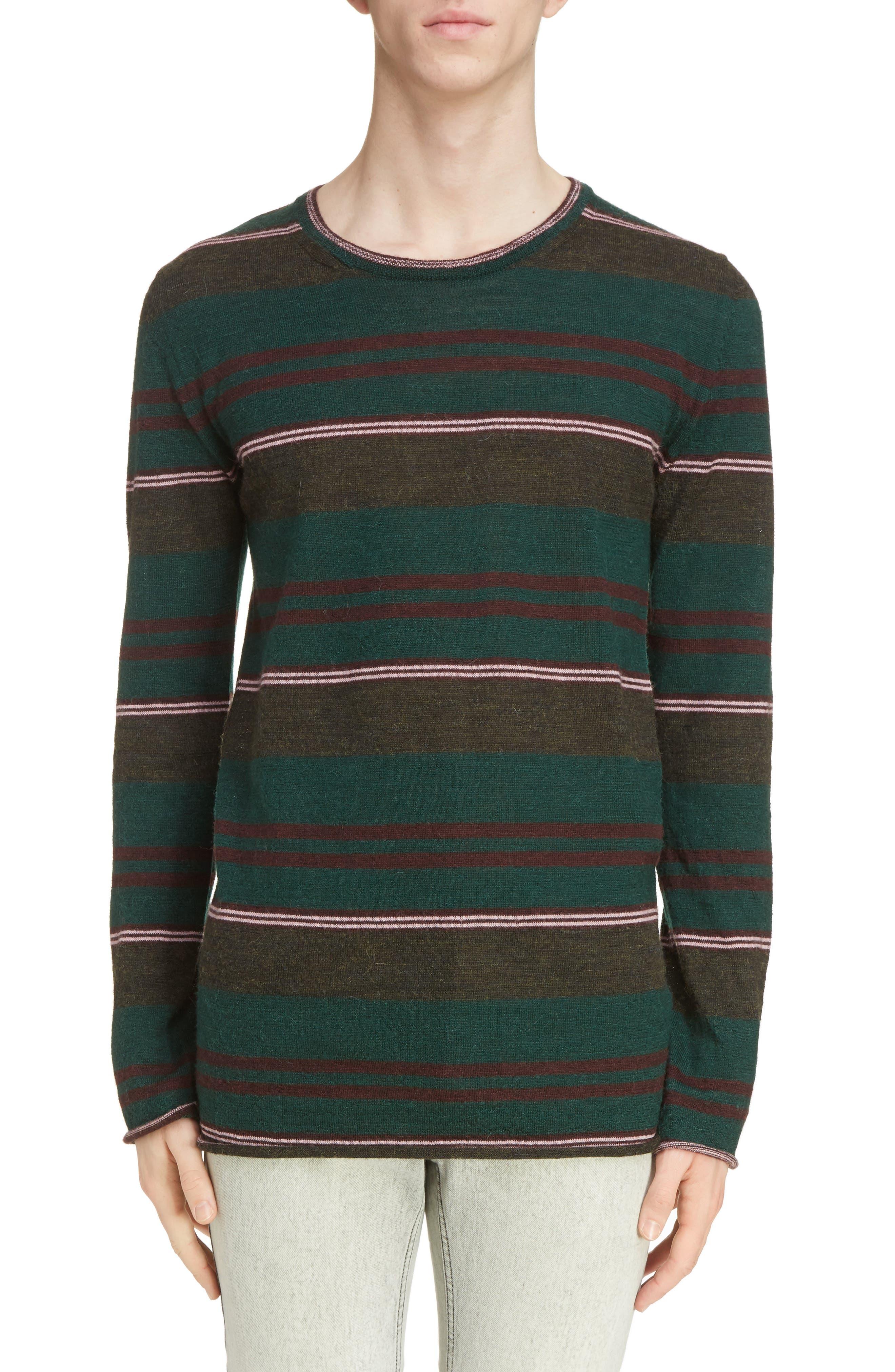 Multistripe Wool Sweater,                         Main,                         color, Green