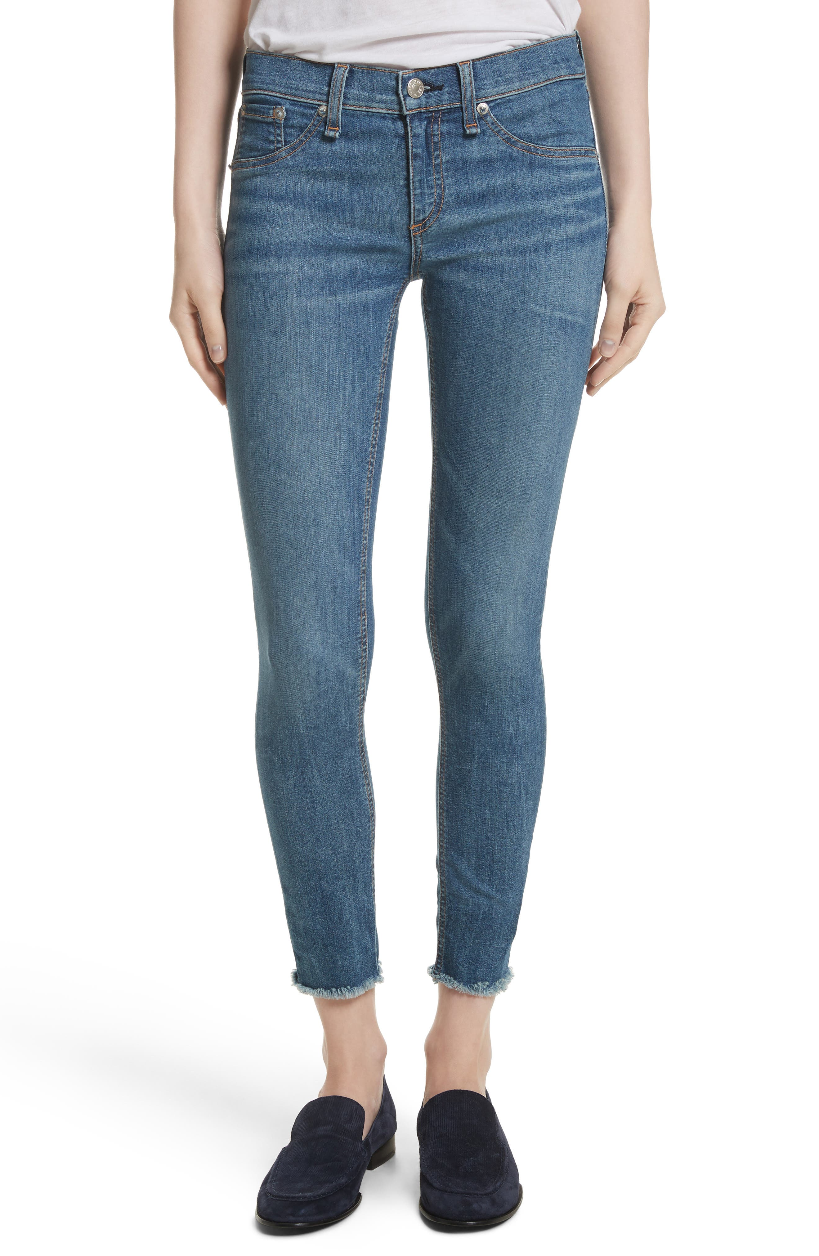 Alternate Image 1 Selected - rag & bone/JEAN Skinny Jeans (Lucky Rouge)