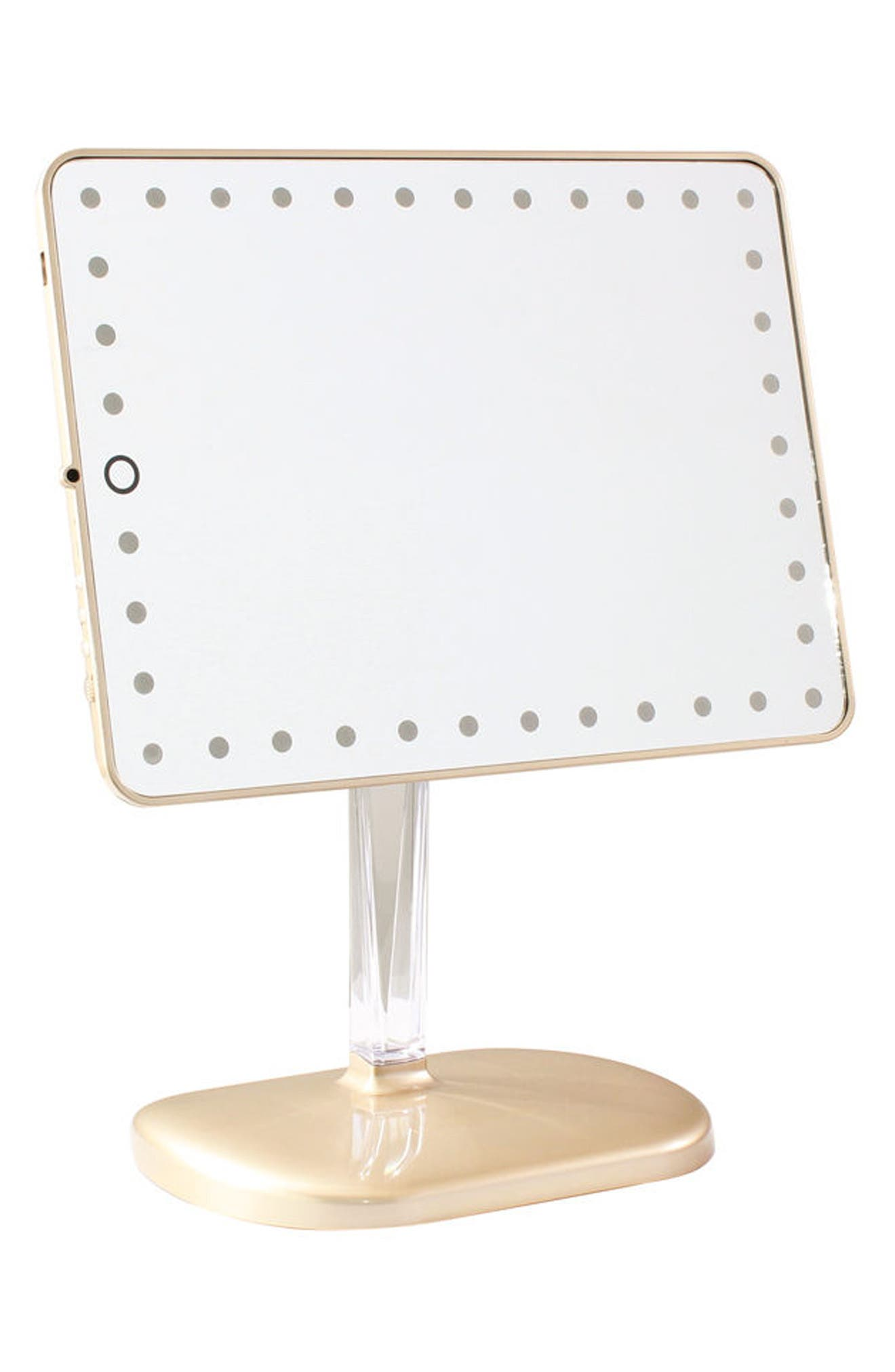 Bling Touch Pro LED Makeup Mirror with Bluetooth<sup>®</sup> Audio & Speakerphone,                             Alternate thumbnail 2, color,                             Glossy Champagne