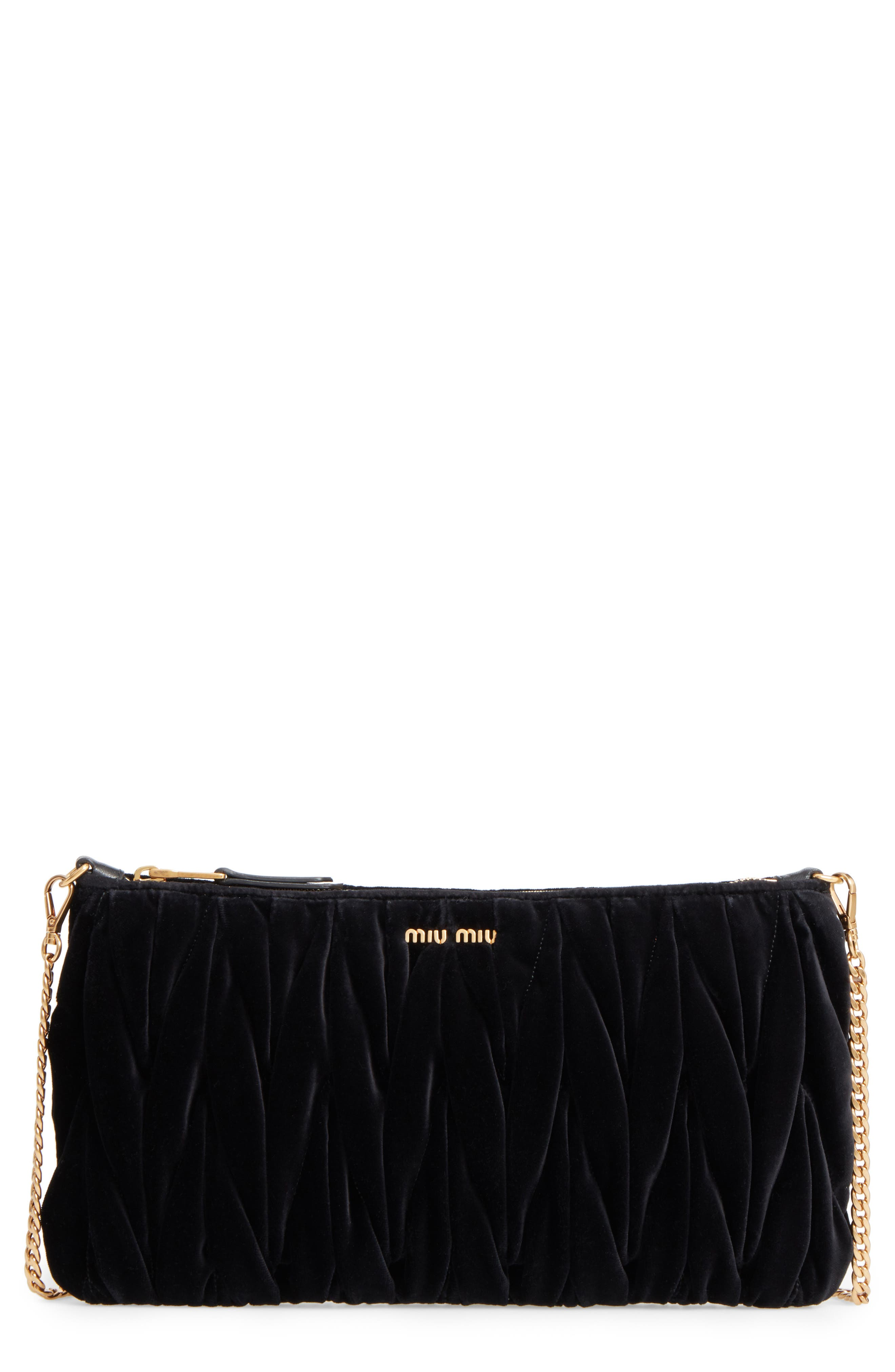 Alternate Image 1 Selected - Miu Miu Velvet Matelassé Clutch