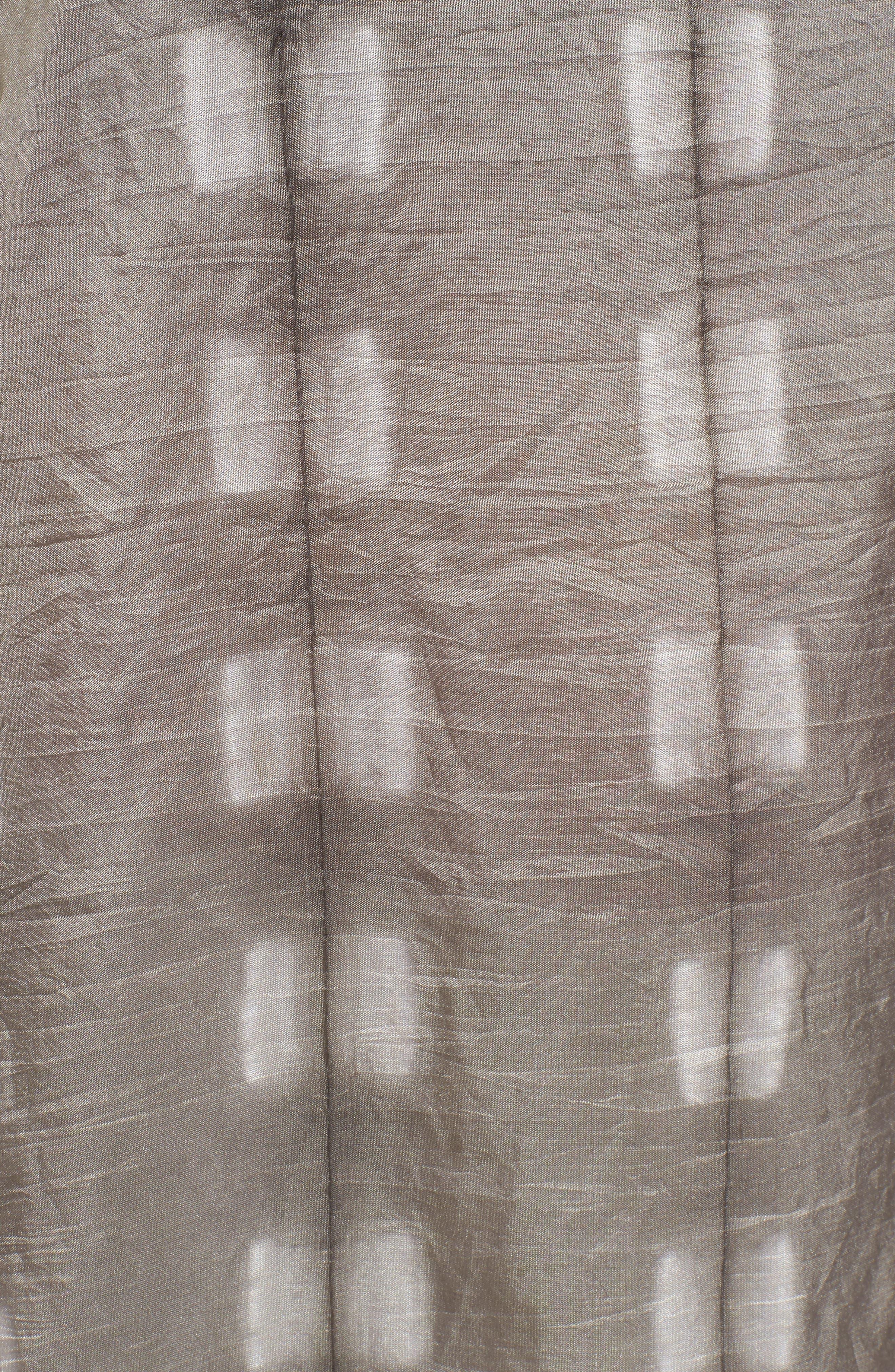 Bateau Neck Silk Tunic,                             Alternate thumbnail 5, color,                             Light Bark