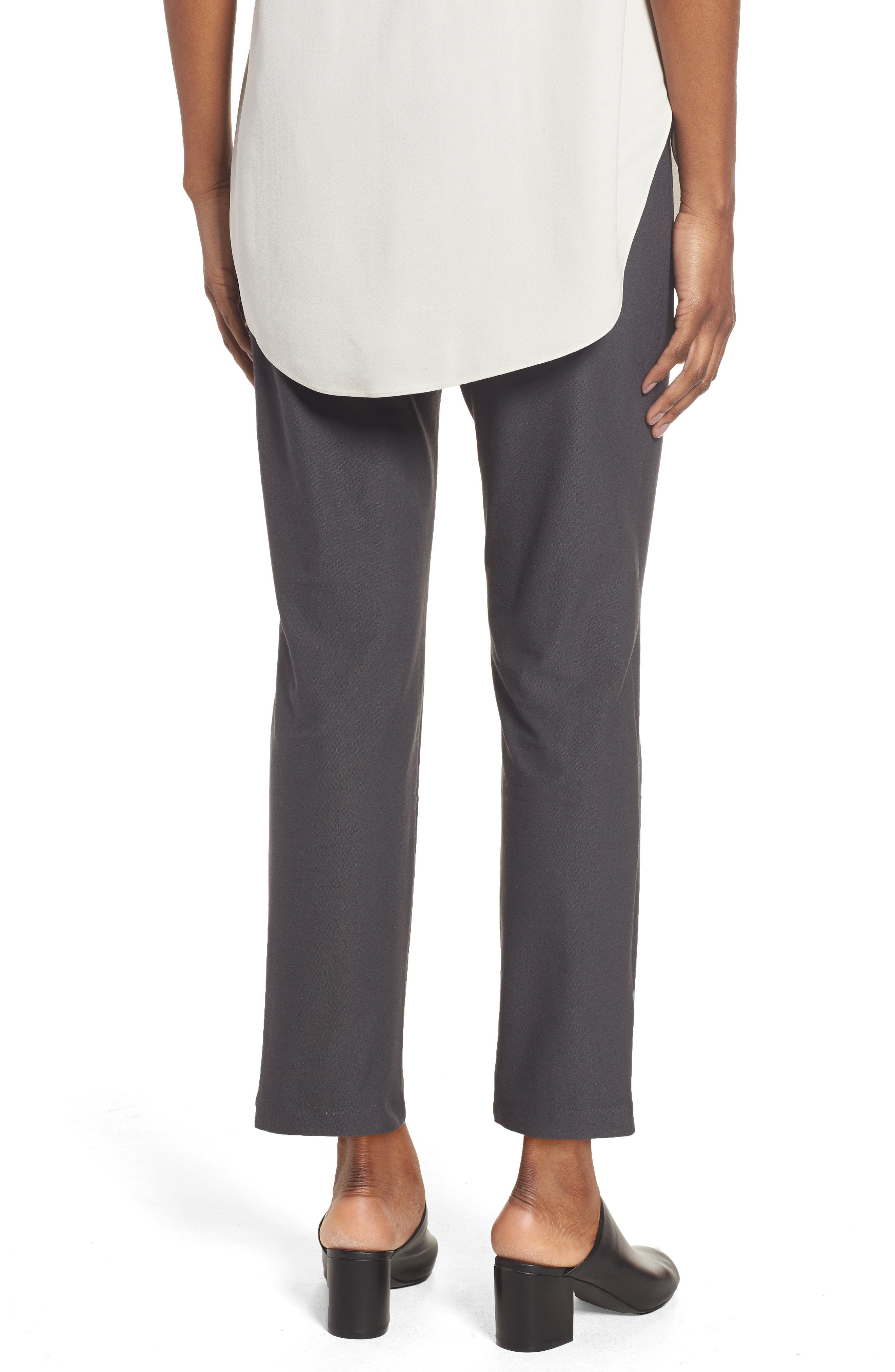 Alternate Image 2  - Eileen Fisher Stretch Crepe Slim Ankle Pants (Regular & Petite)