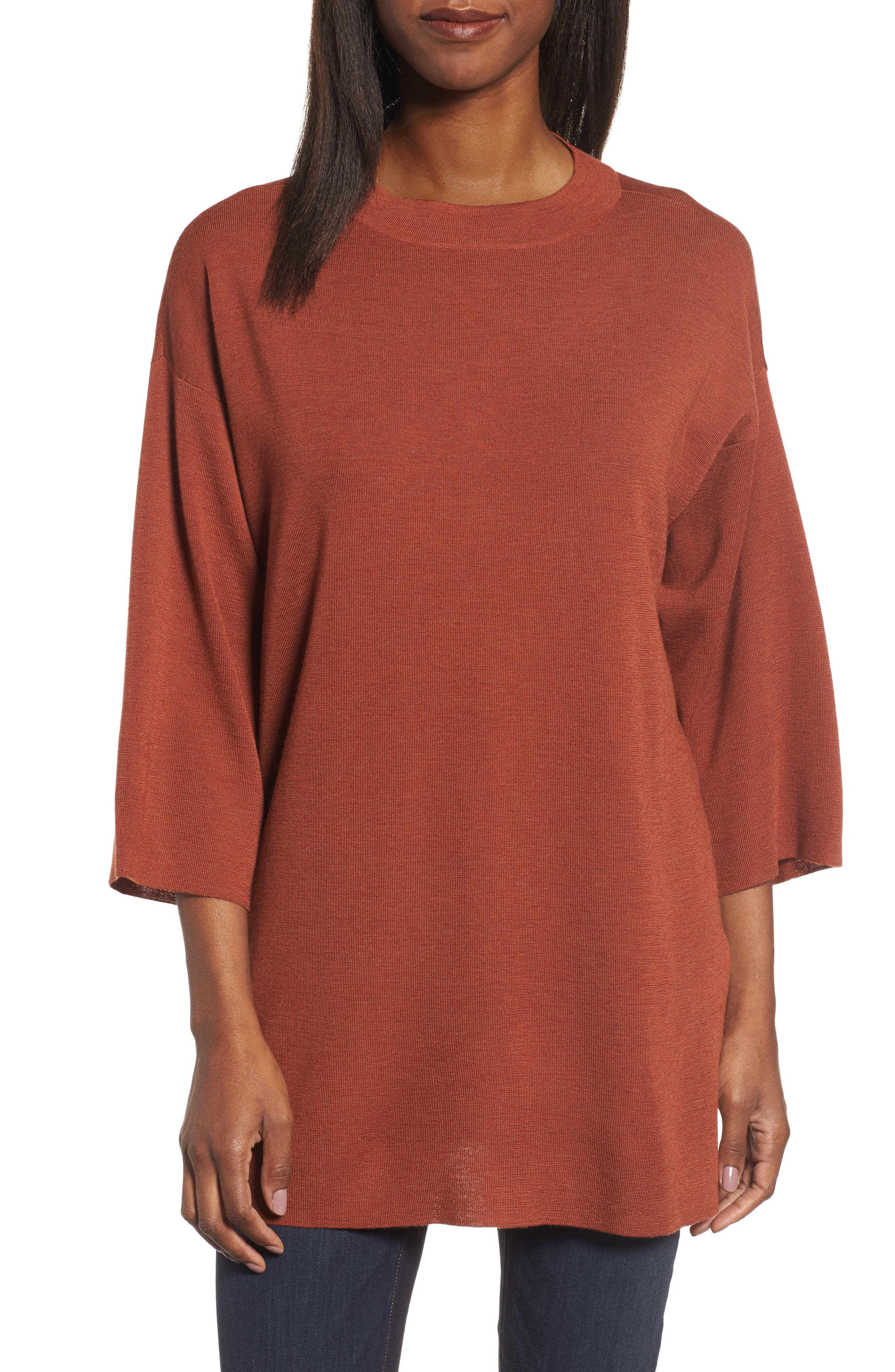 Alternate Image 1 Selected - Eileen Fisher Merino Wool Tunic