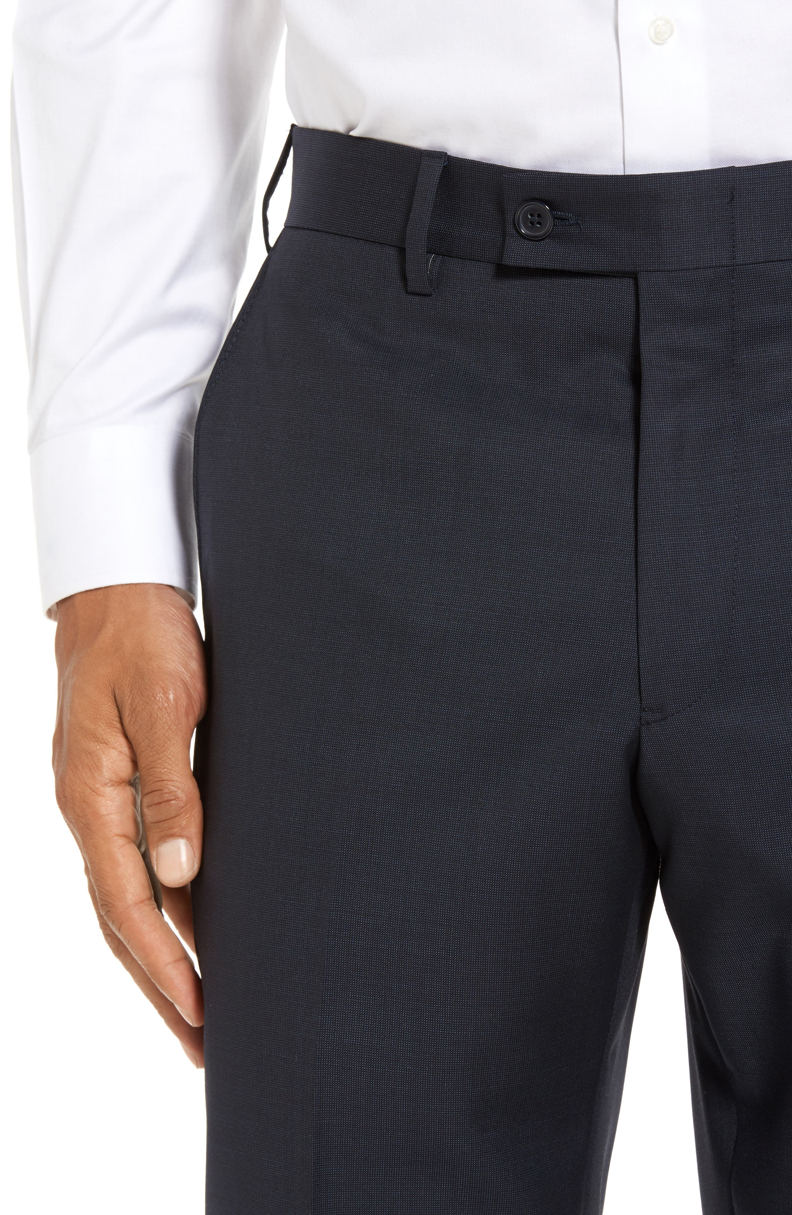 Alternate Image 4  - JB Britches Flat Front Solid Wool Trousers