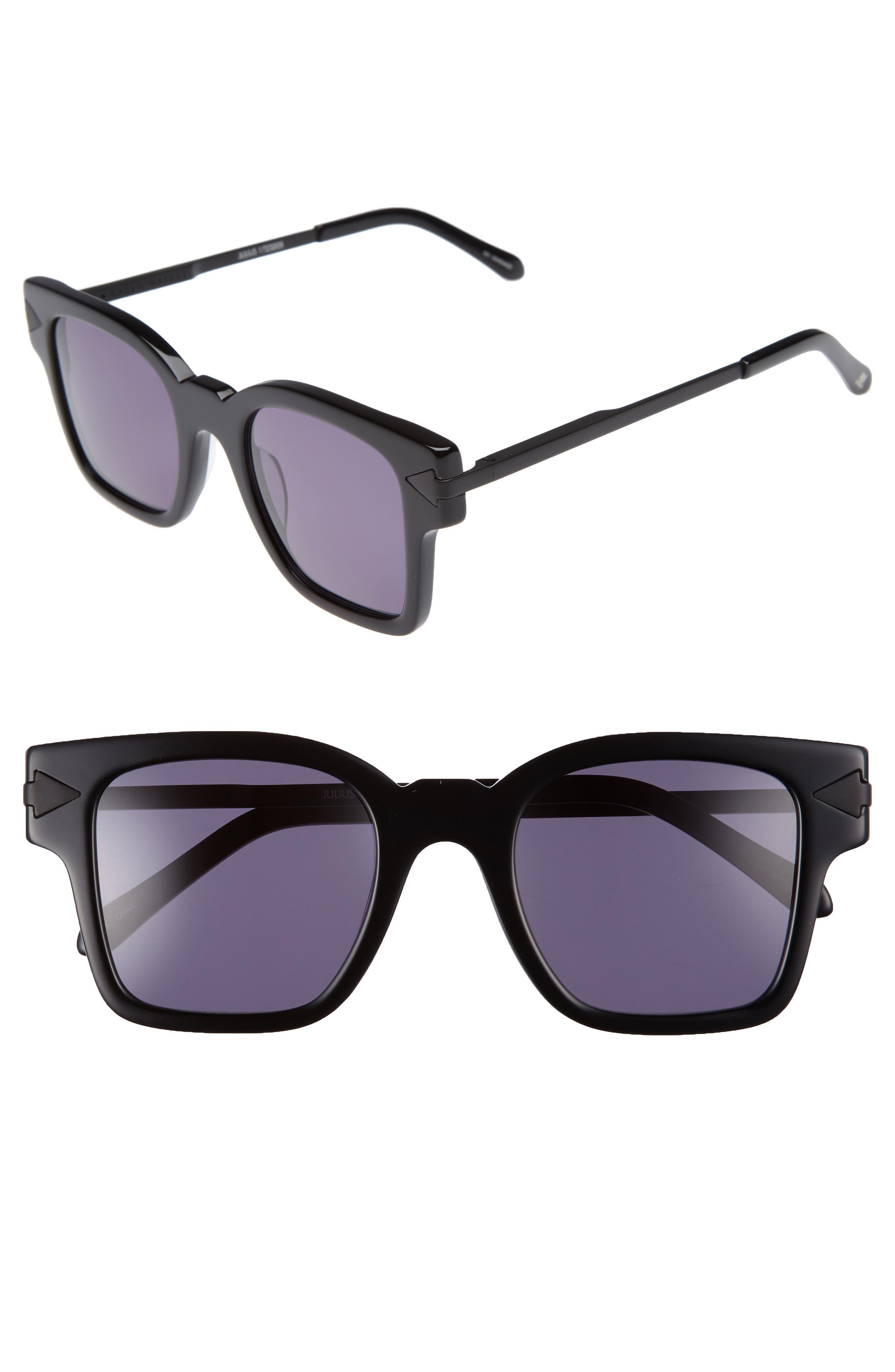 x Monumental Julius 49mm Square Sunglasses,                         Main,                         color, Black