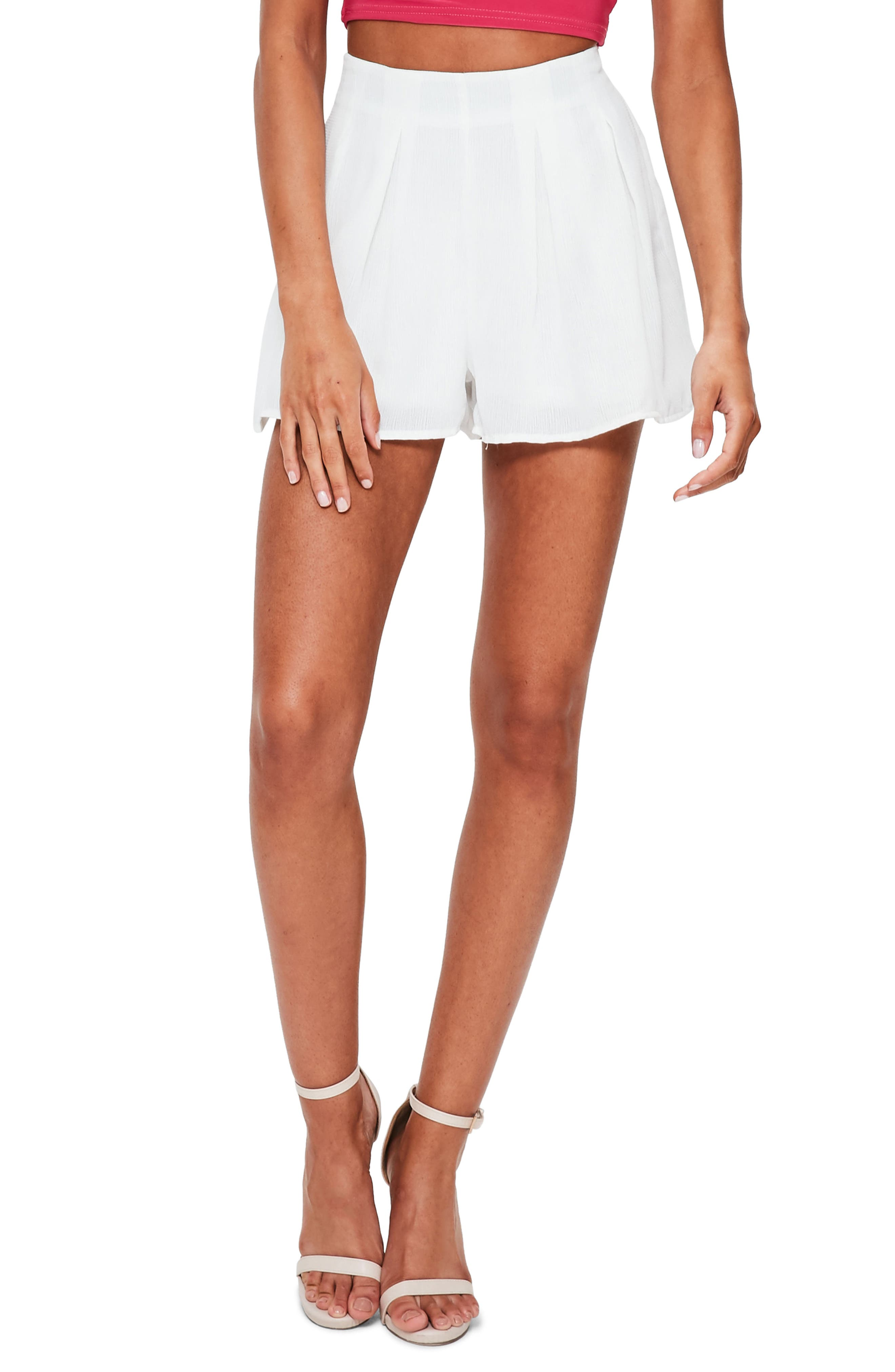 Missguided Floaty Pleat Shorts