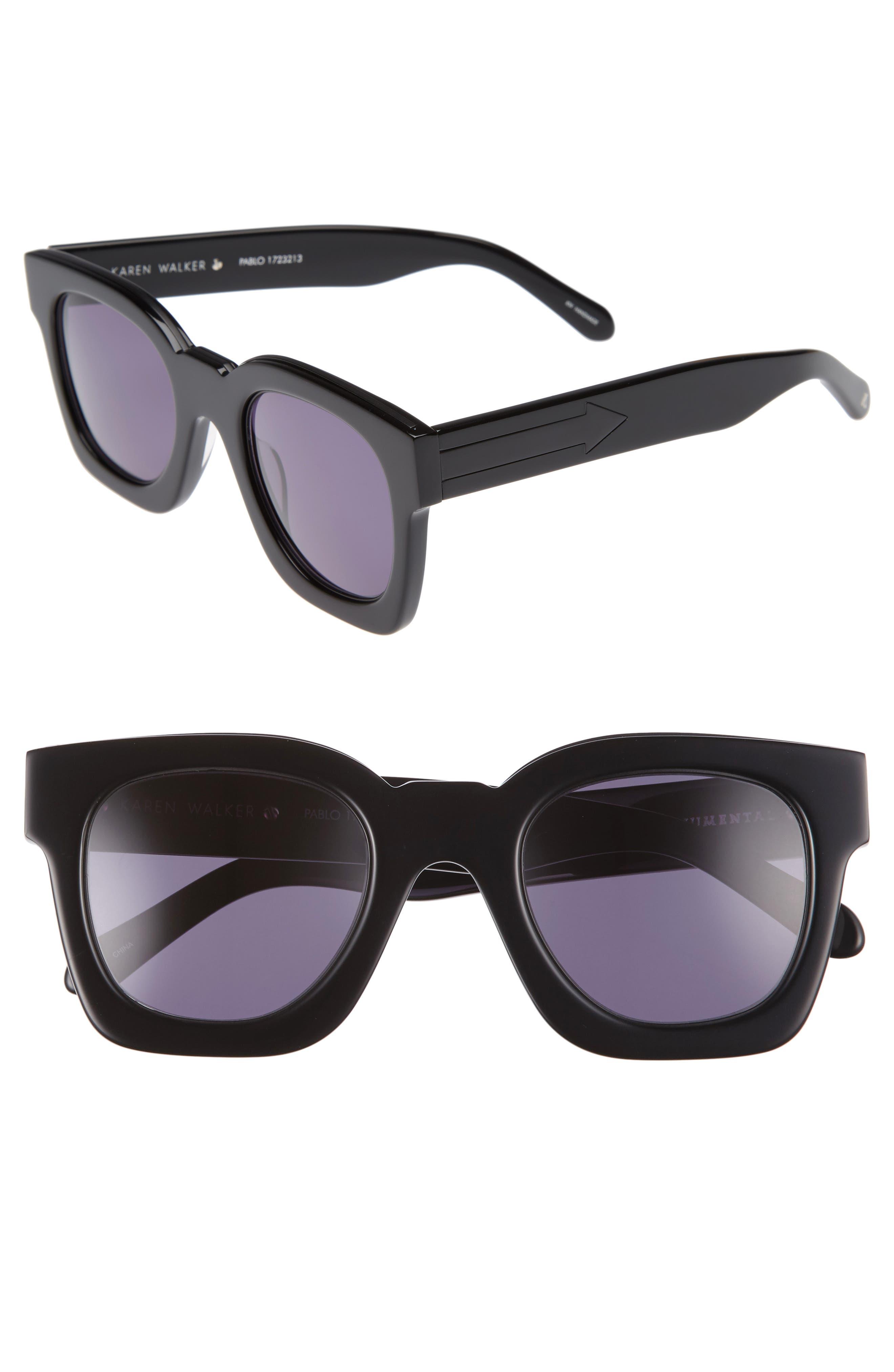x Monumental Pablo 50mm Sunglasses,                             Main thumbnail 1, color,                             Black