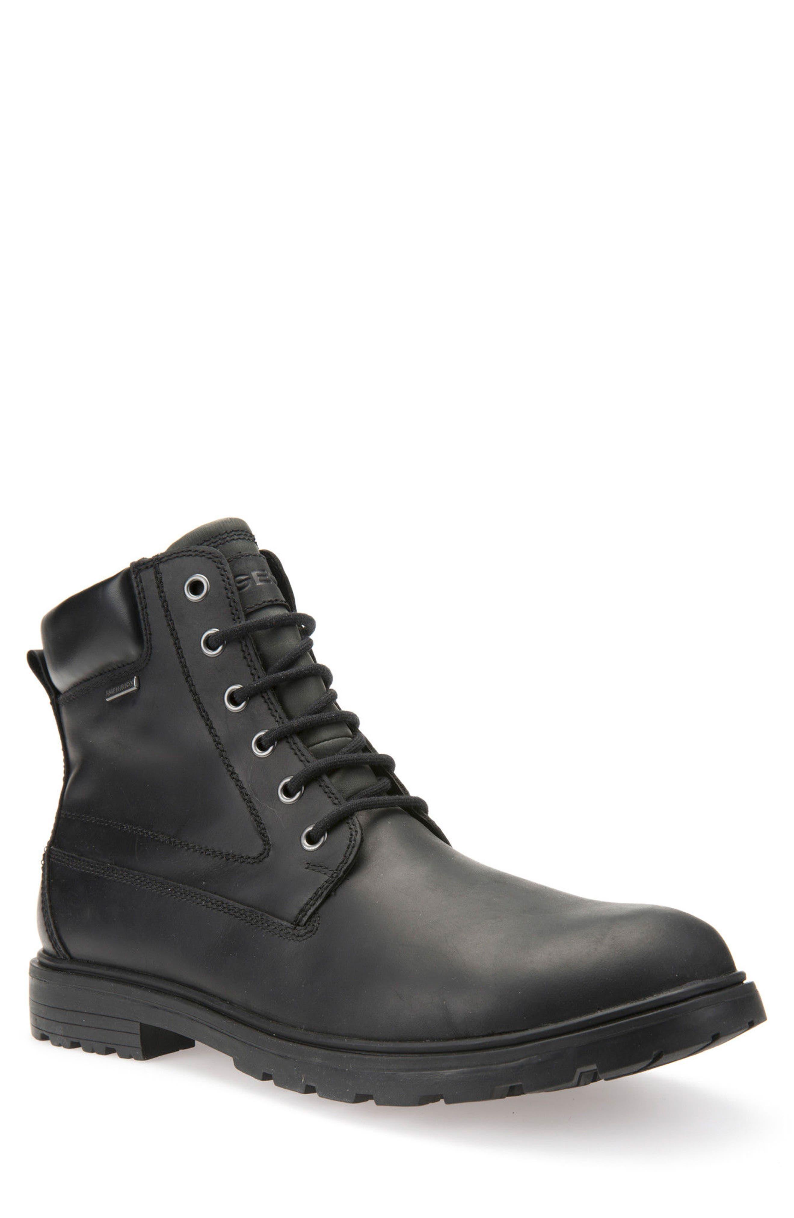 Makim Waterproof Plain Toe Boot,                             Main thumbnail 1, color,                             Black