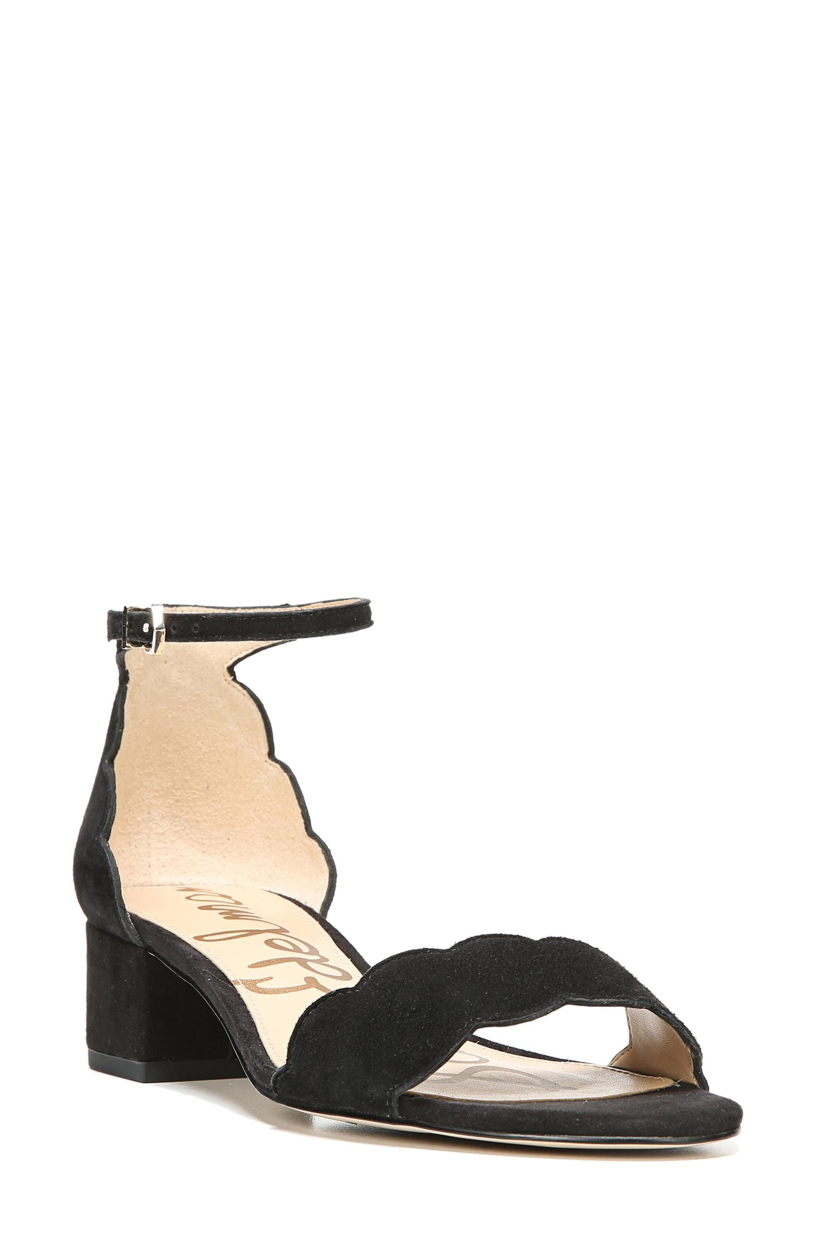SAM EDELMAN Inara Scalloped Block Heel Sandal