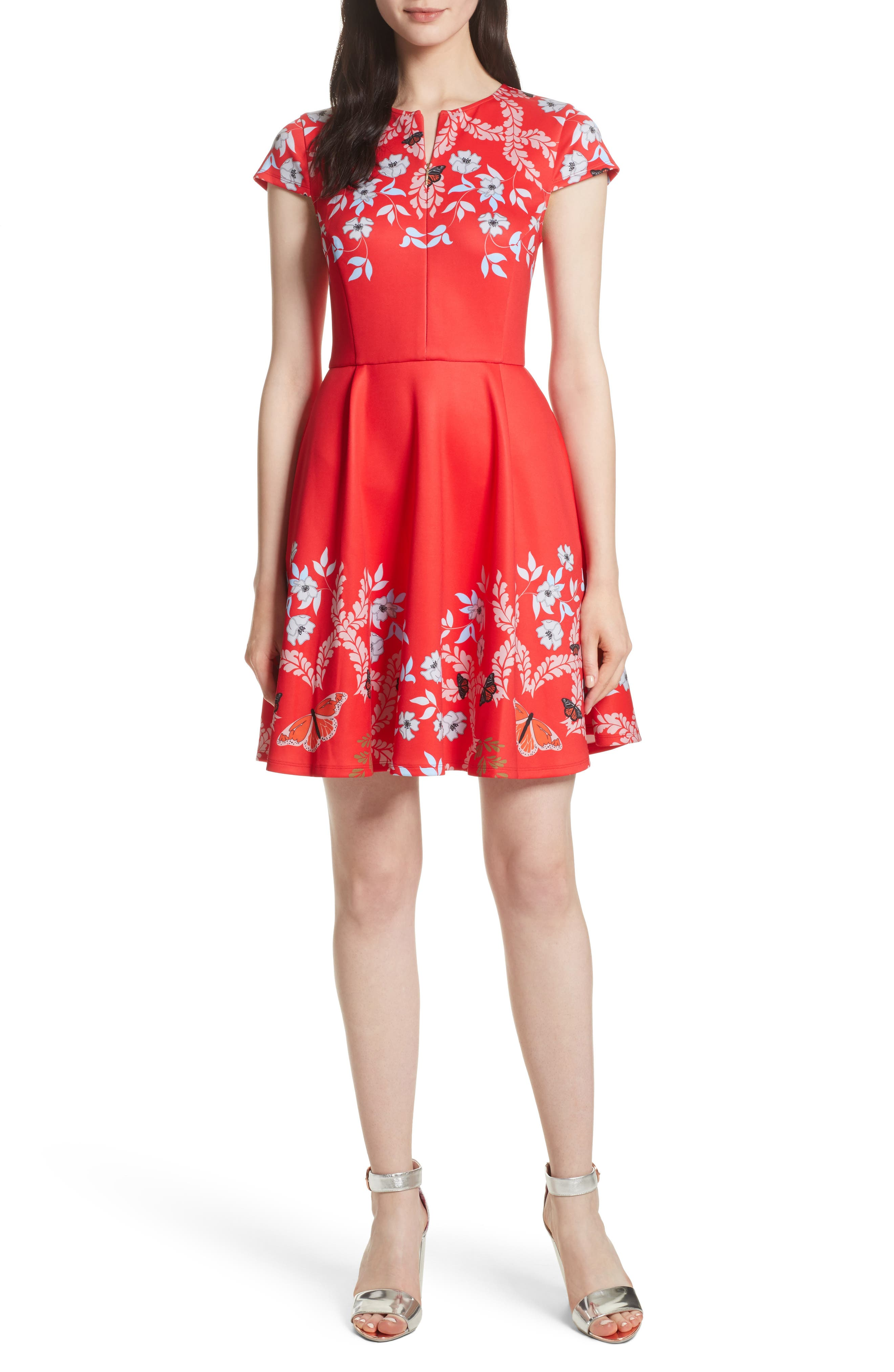 Alternate Image 1 Selected - Ted Baker London Saydi Kyoto Skater Dress
