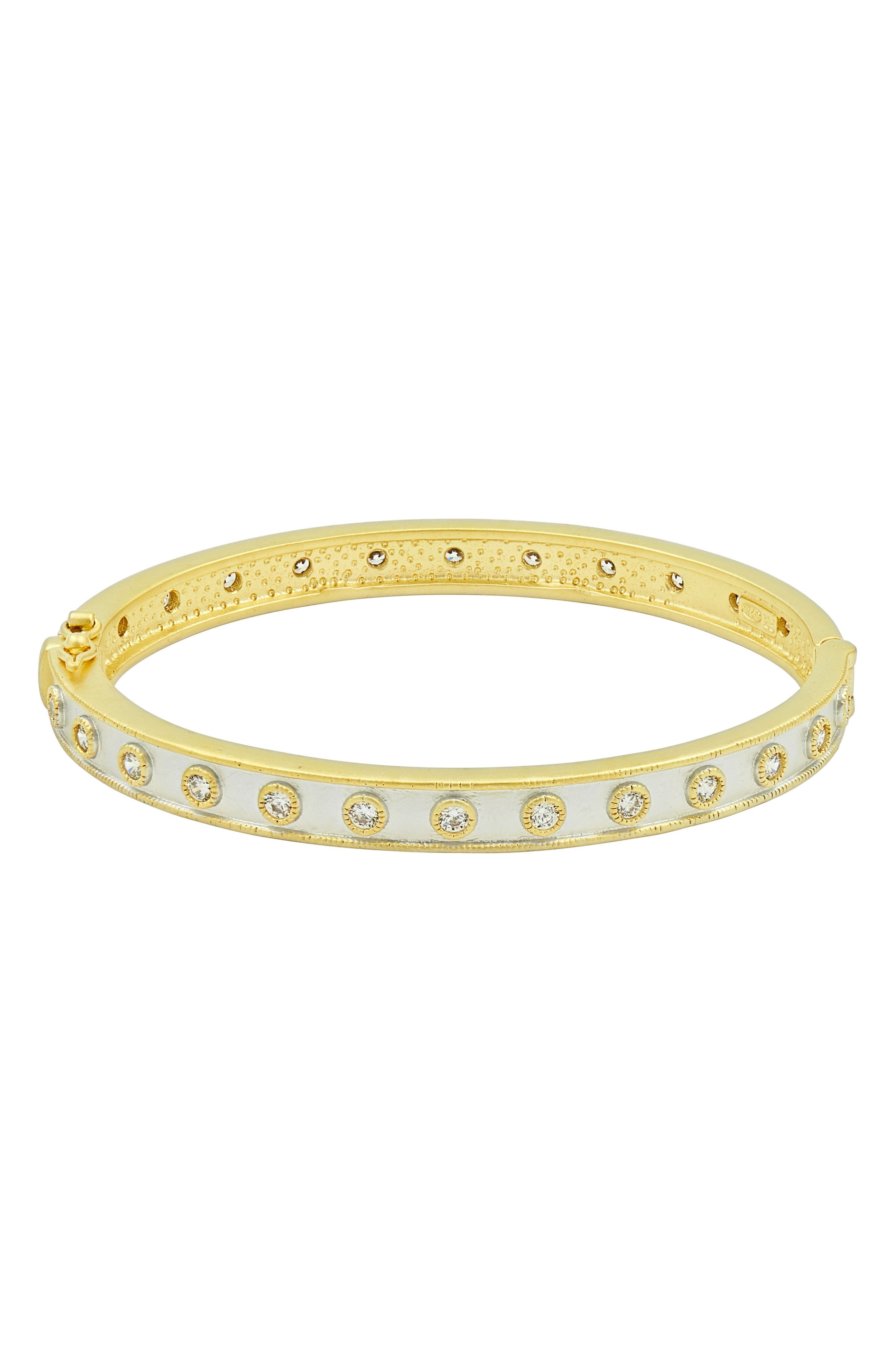 Visionary Eternity Bangle,                         Main,                         color, Gold/ Silver