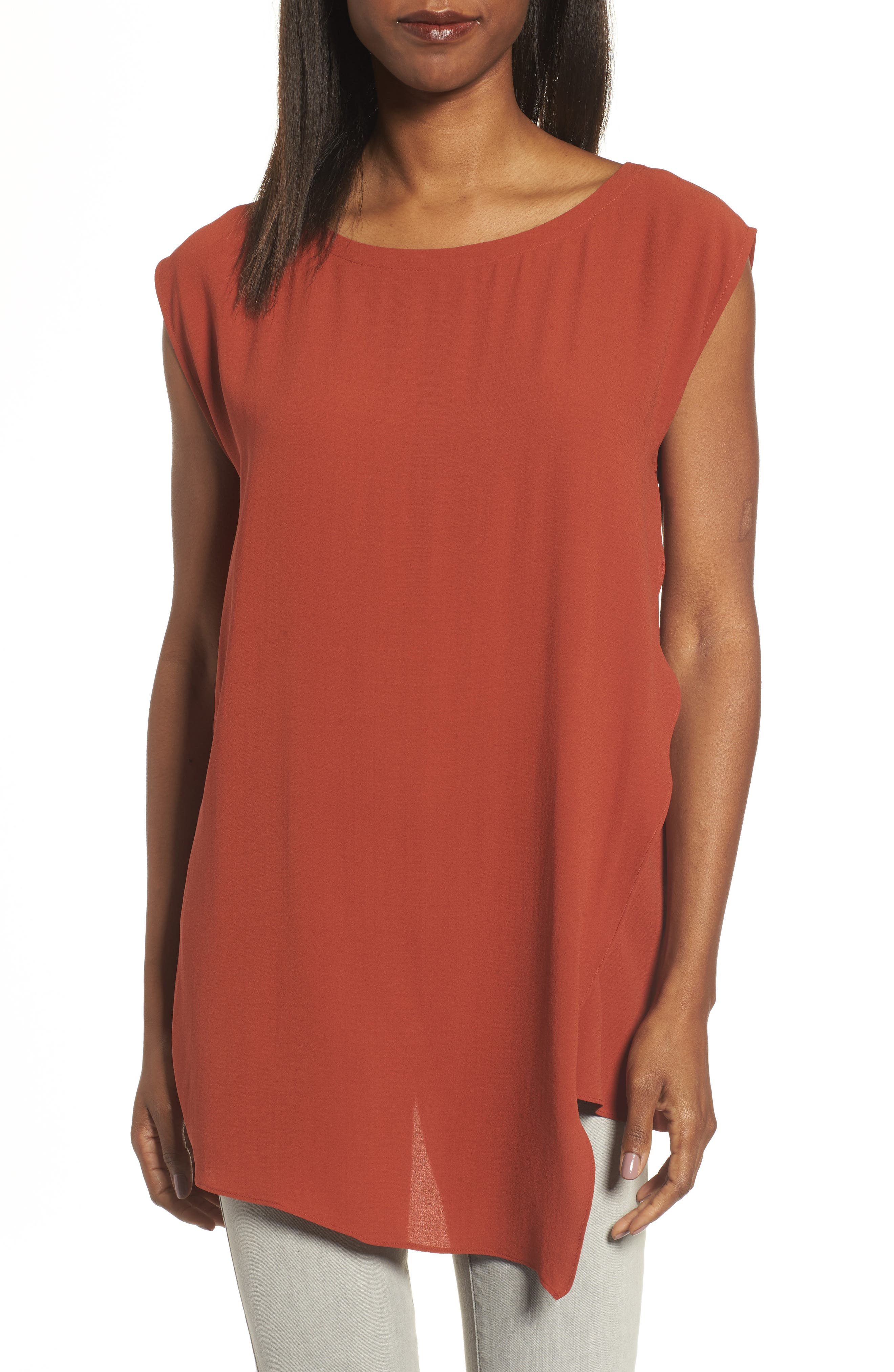 Eileen Fisher Asymmetrical Silk Tunic