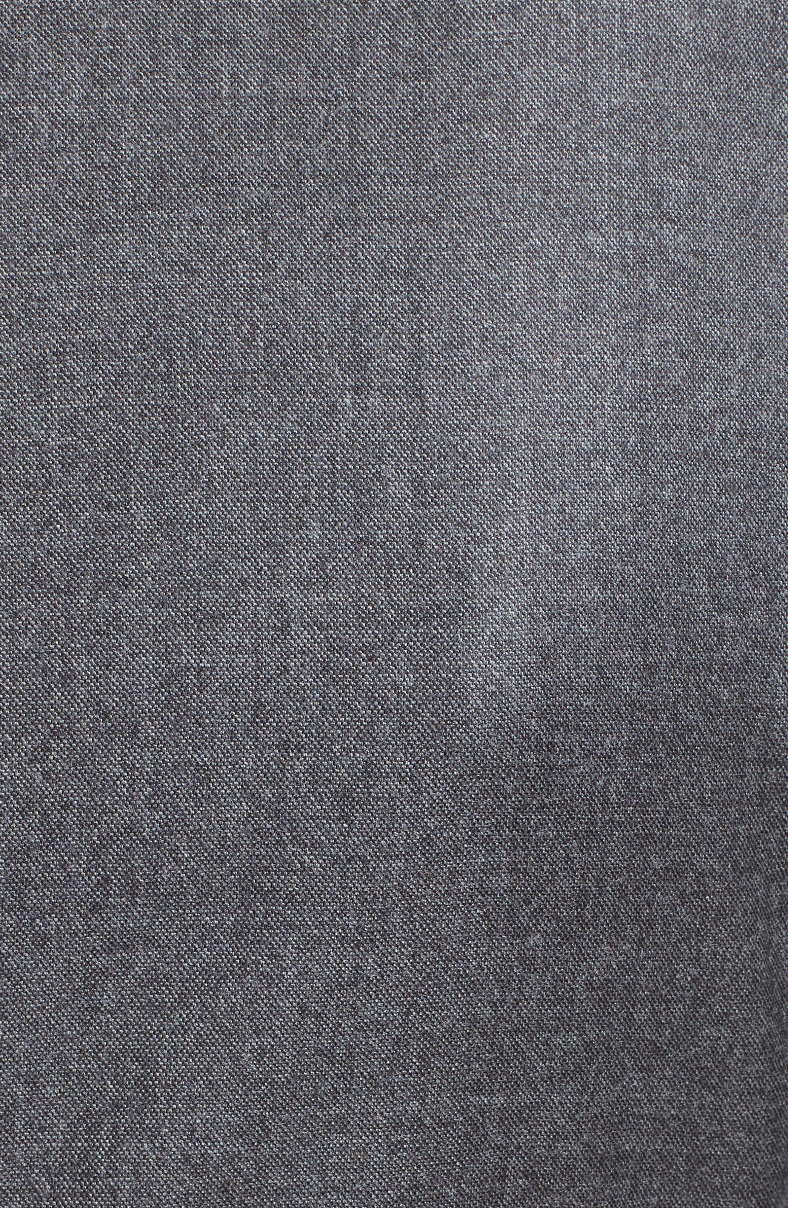 Ragazza Gathered Wool Dress,                             Alternate thumbnail 3, color,                             Dark Grey