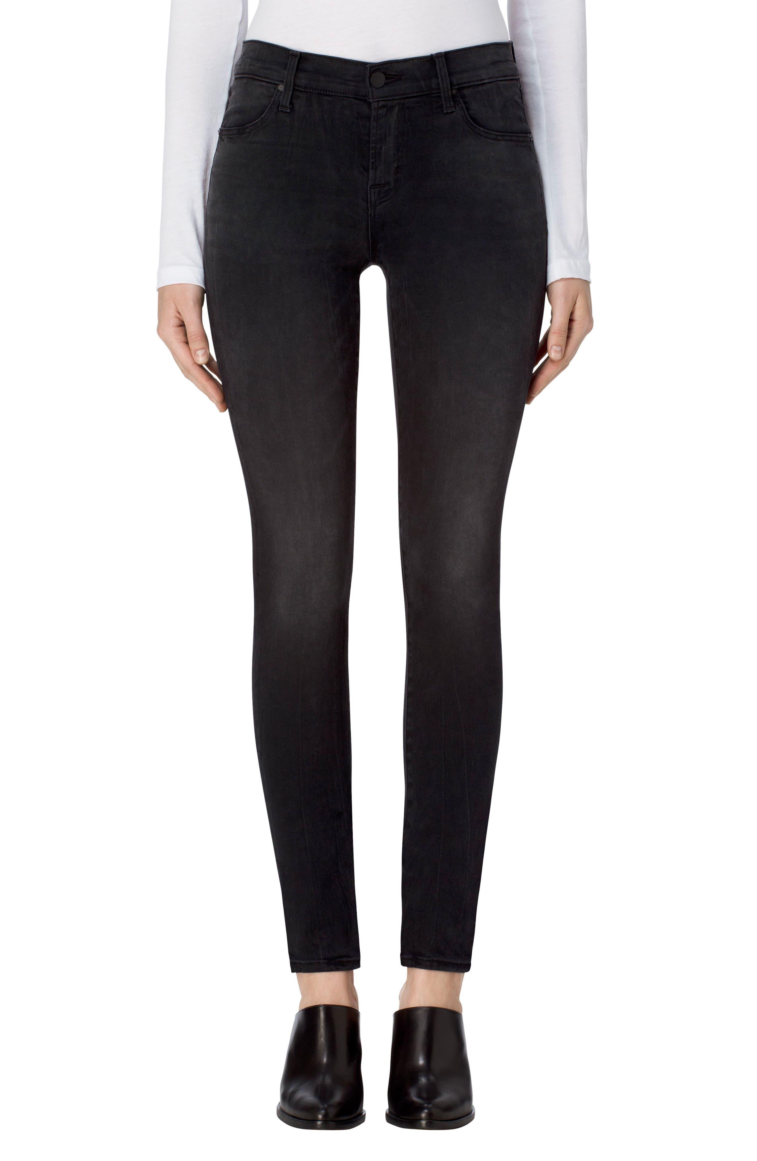 J Brand 811 Mid Rise Skinny Jeans (Dark Sanctify)