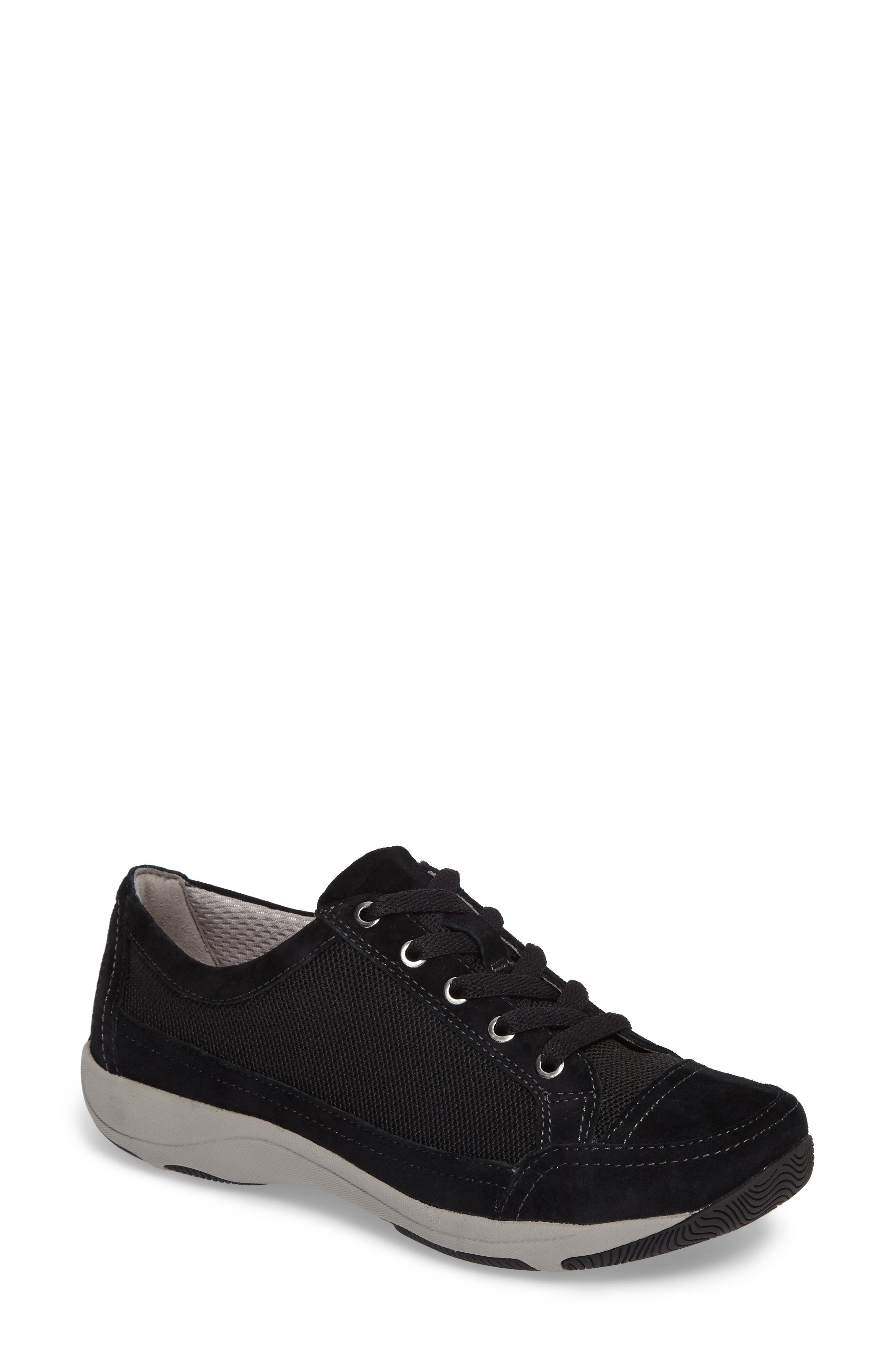 Harmony Sneaker,                             Main thumbnail 1, color,                             Black Suede