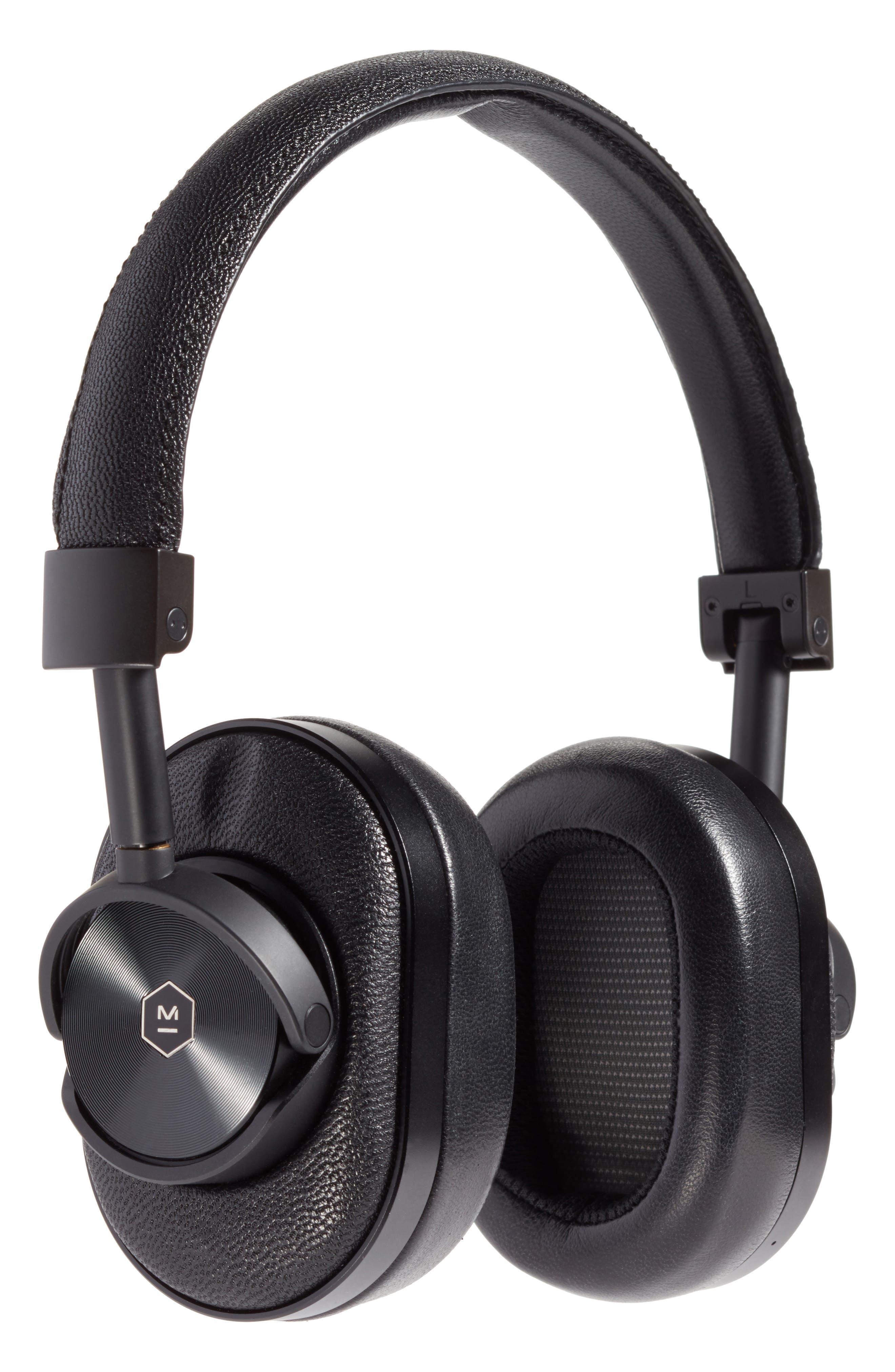 MW60 Wireless Over-Ear Headphones,                         Main,                         color, Black/Black