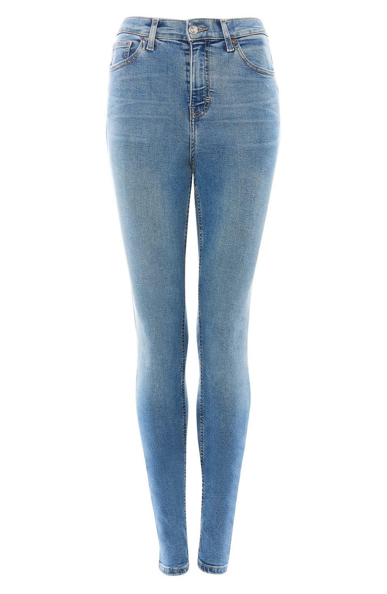 Alternate Image 5  - Topshop Jamie High Waist Skinny Jeans (Tall)