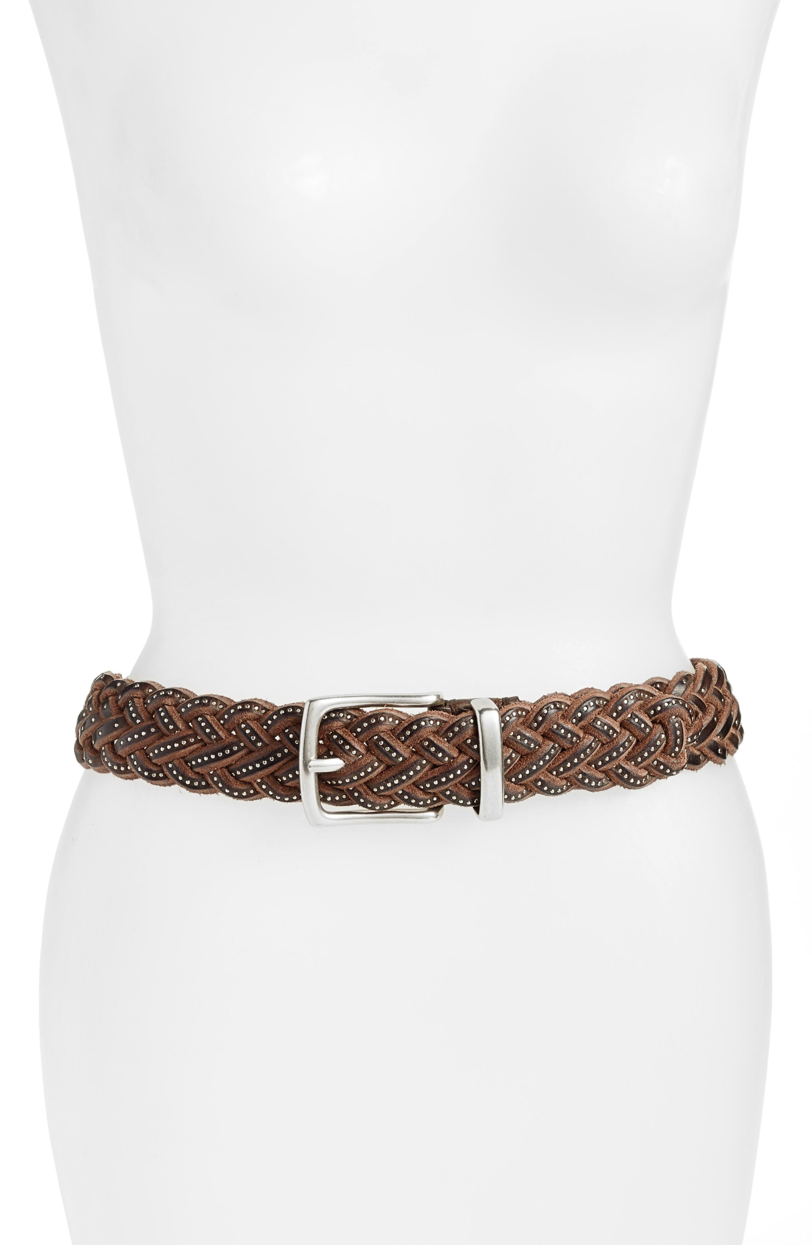 Main Image - Frye Braided Leather Belt