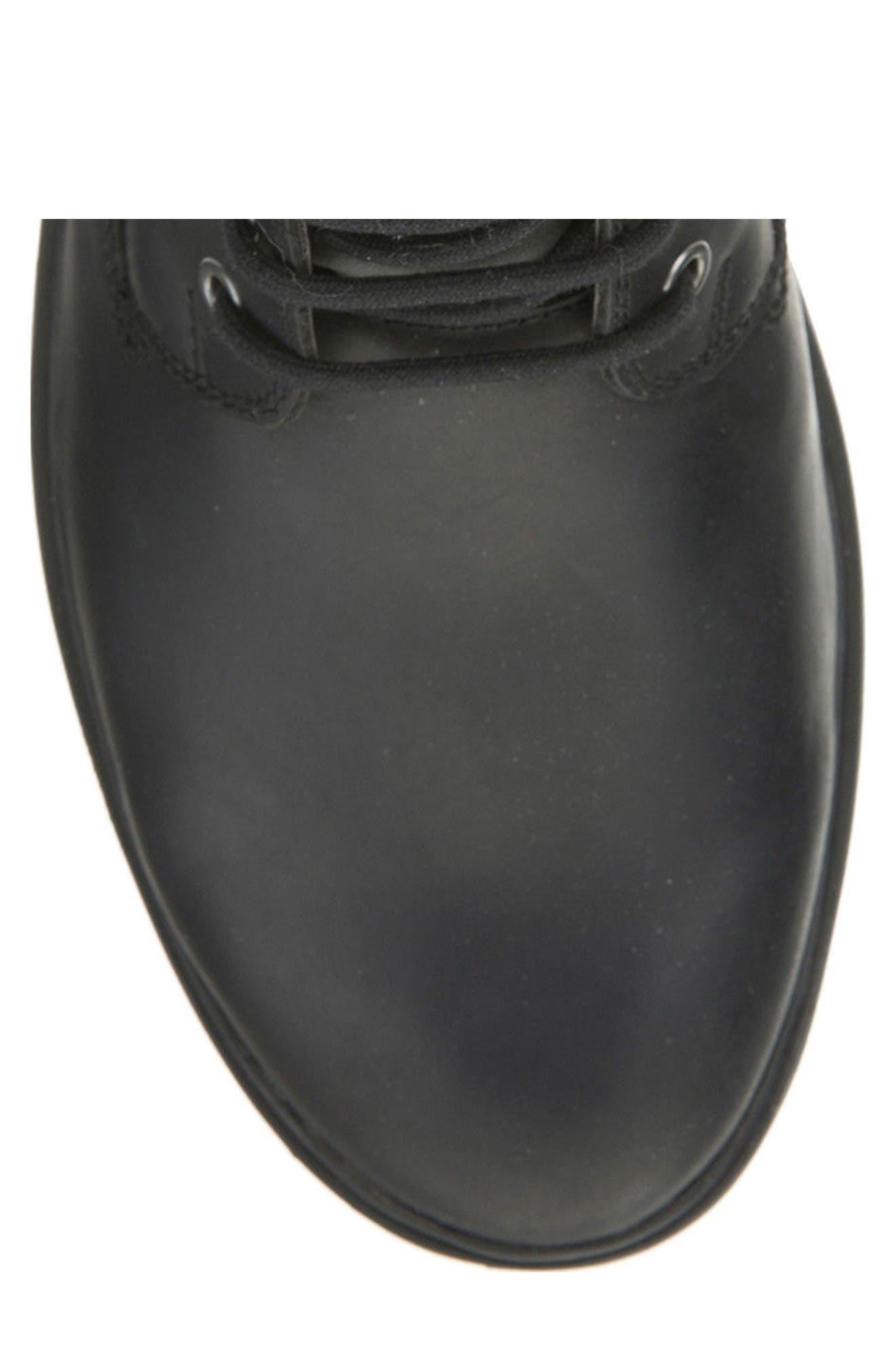 Makim Waterproof Plain Toe Boot,                             Alternate thumbnail 5, color,                             Black