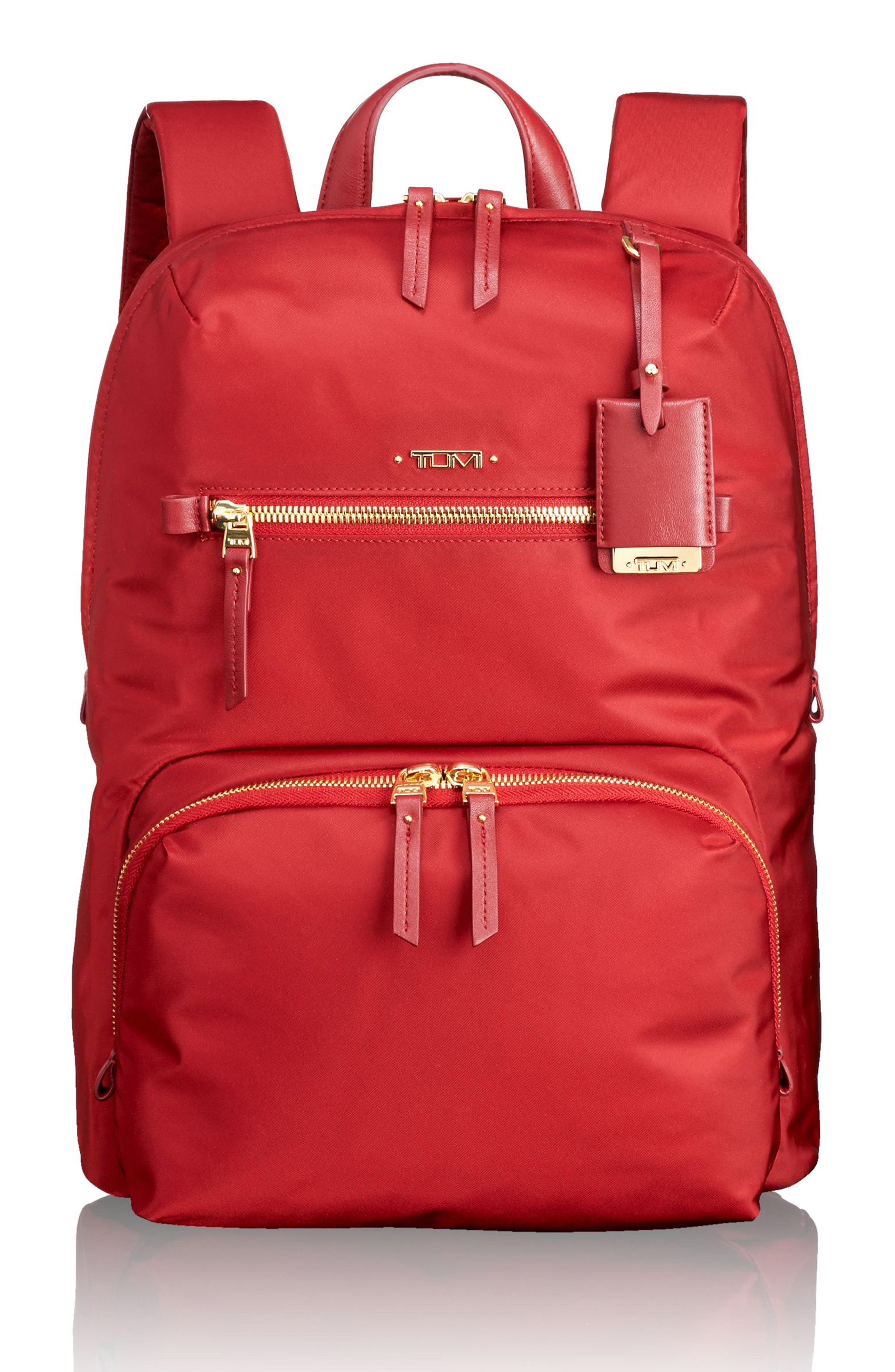 Voyageur Halle Nylon Backpack,                         Main,                         color, Crimson