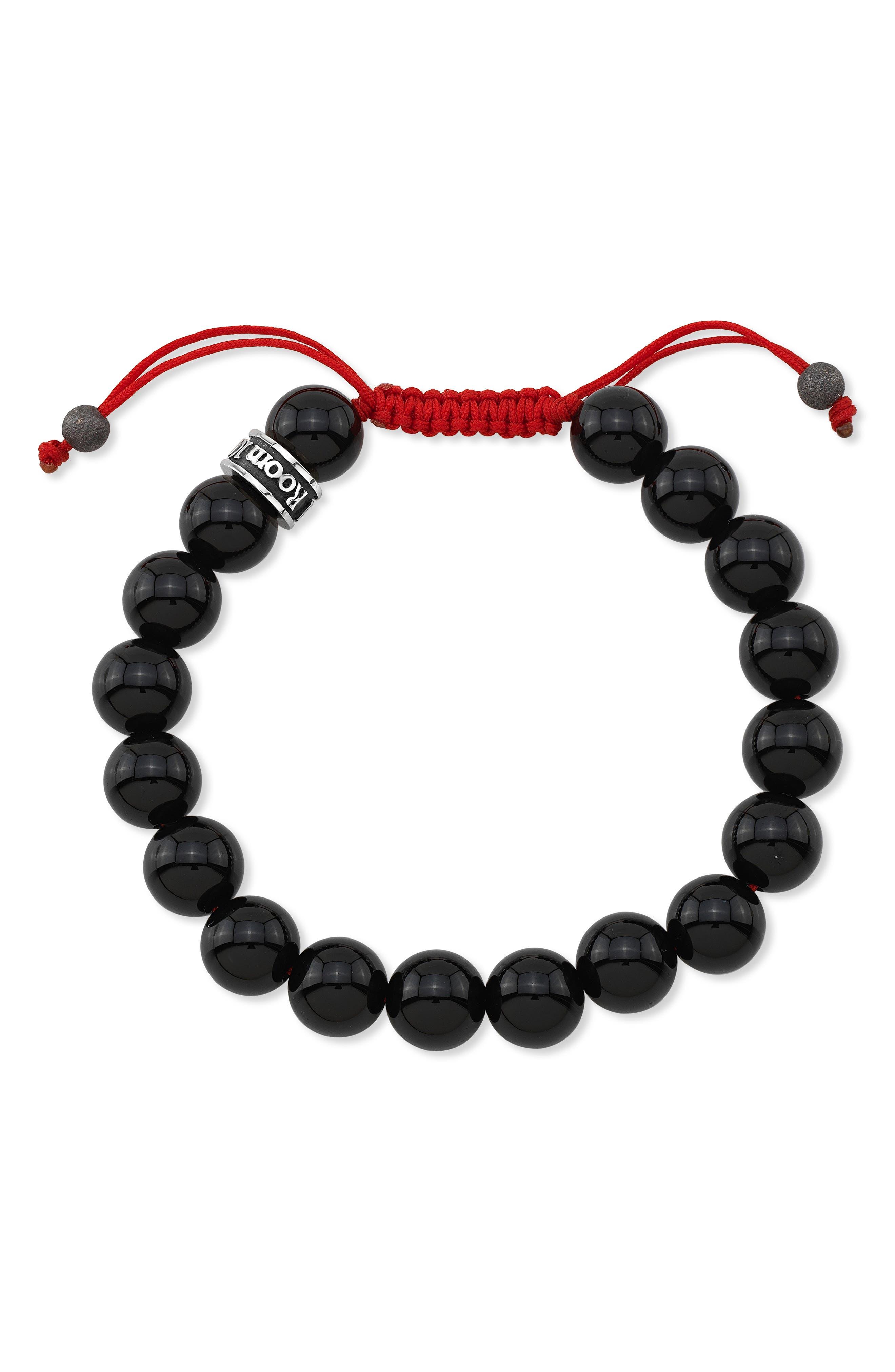 Room101 Agate Bead Shamballa Bracelet