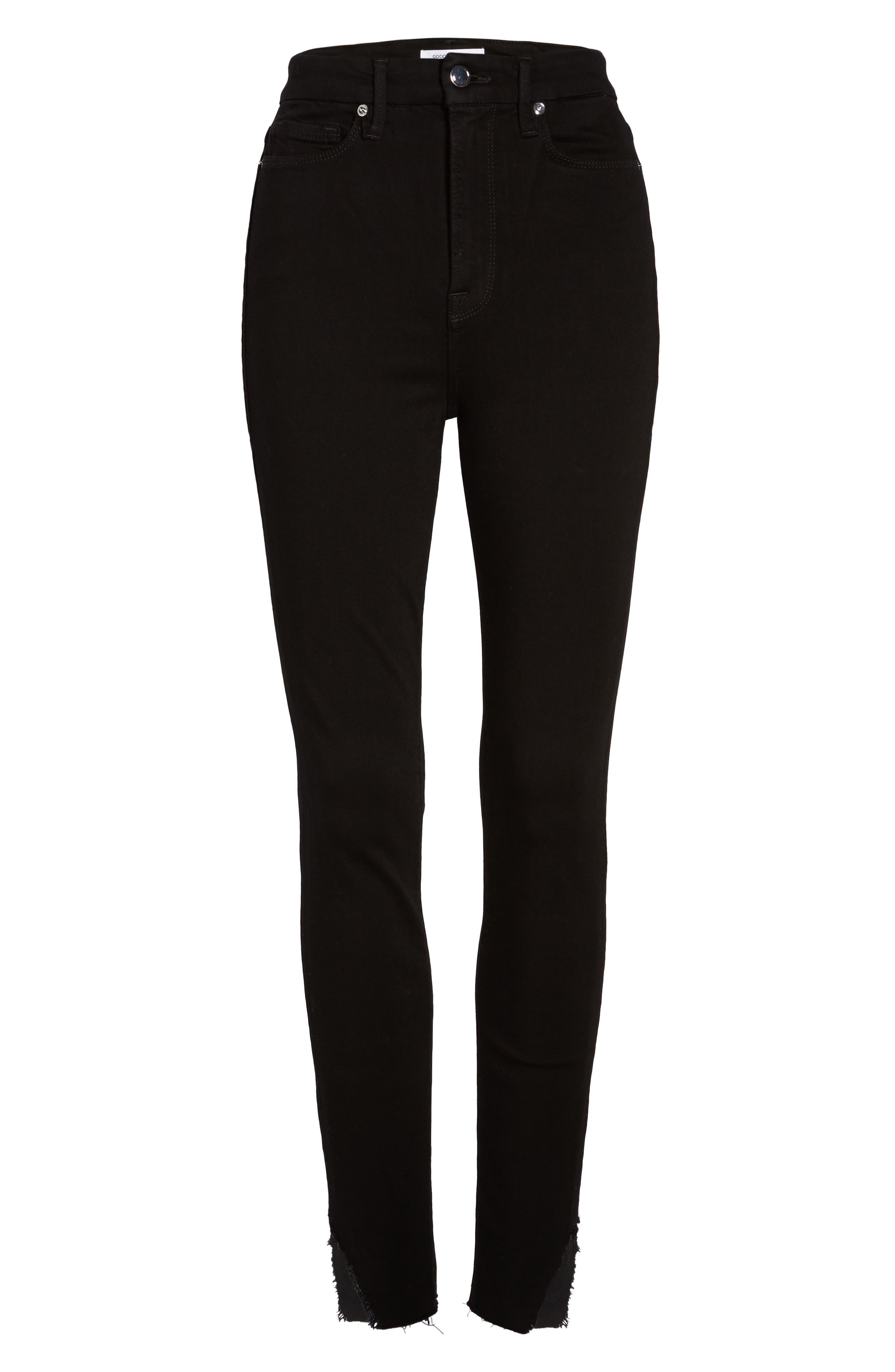 Good Waist Side Triangle Skinny Jeans,                             Alternate thumbnail 6, color,                             Black108