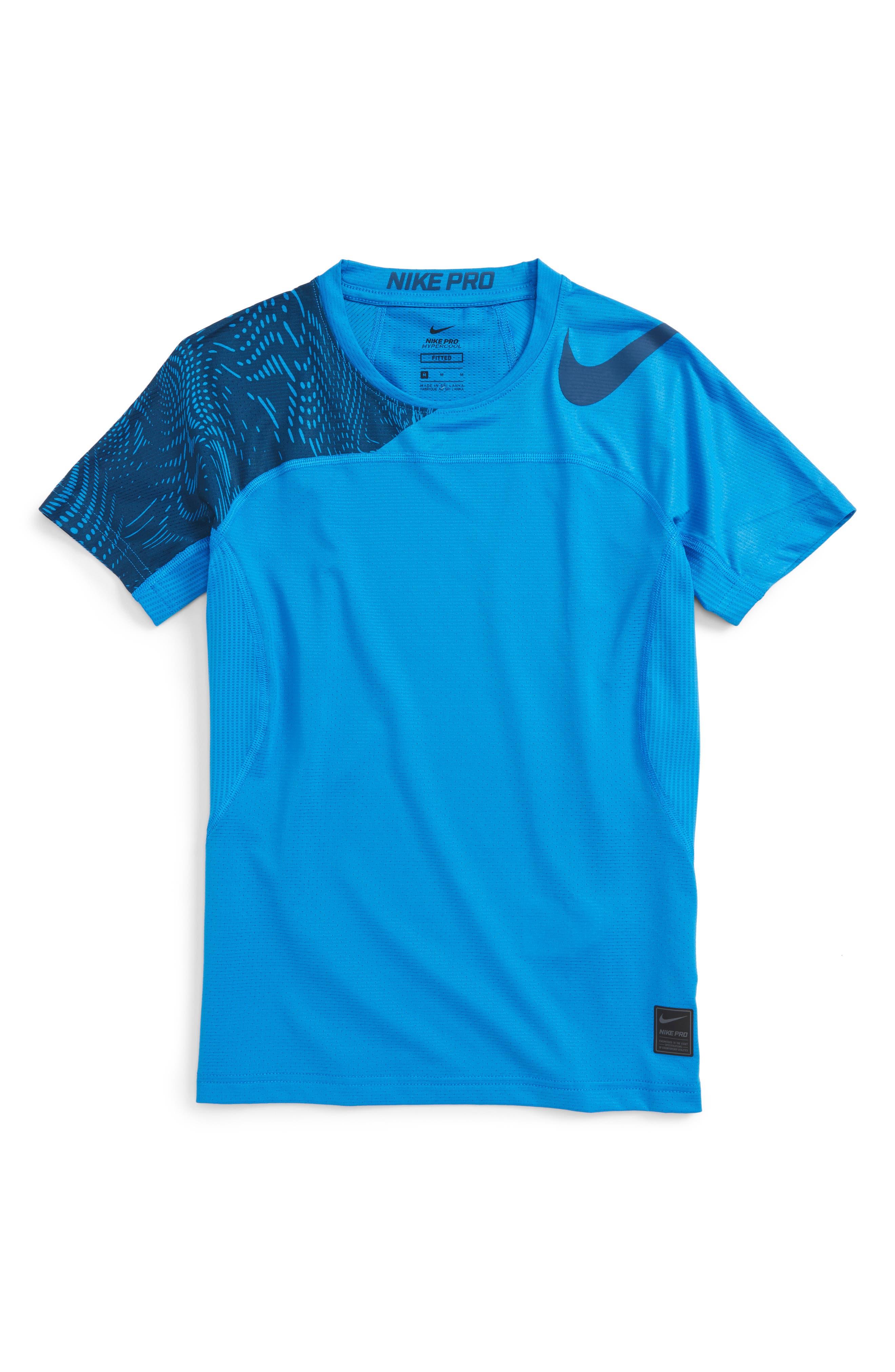 Pro Hypercool Training T-Shirt,                             Main thumbnail 1, color,                             Photo Blue