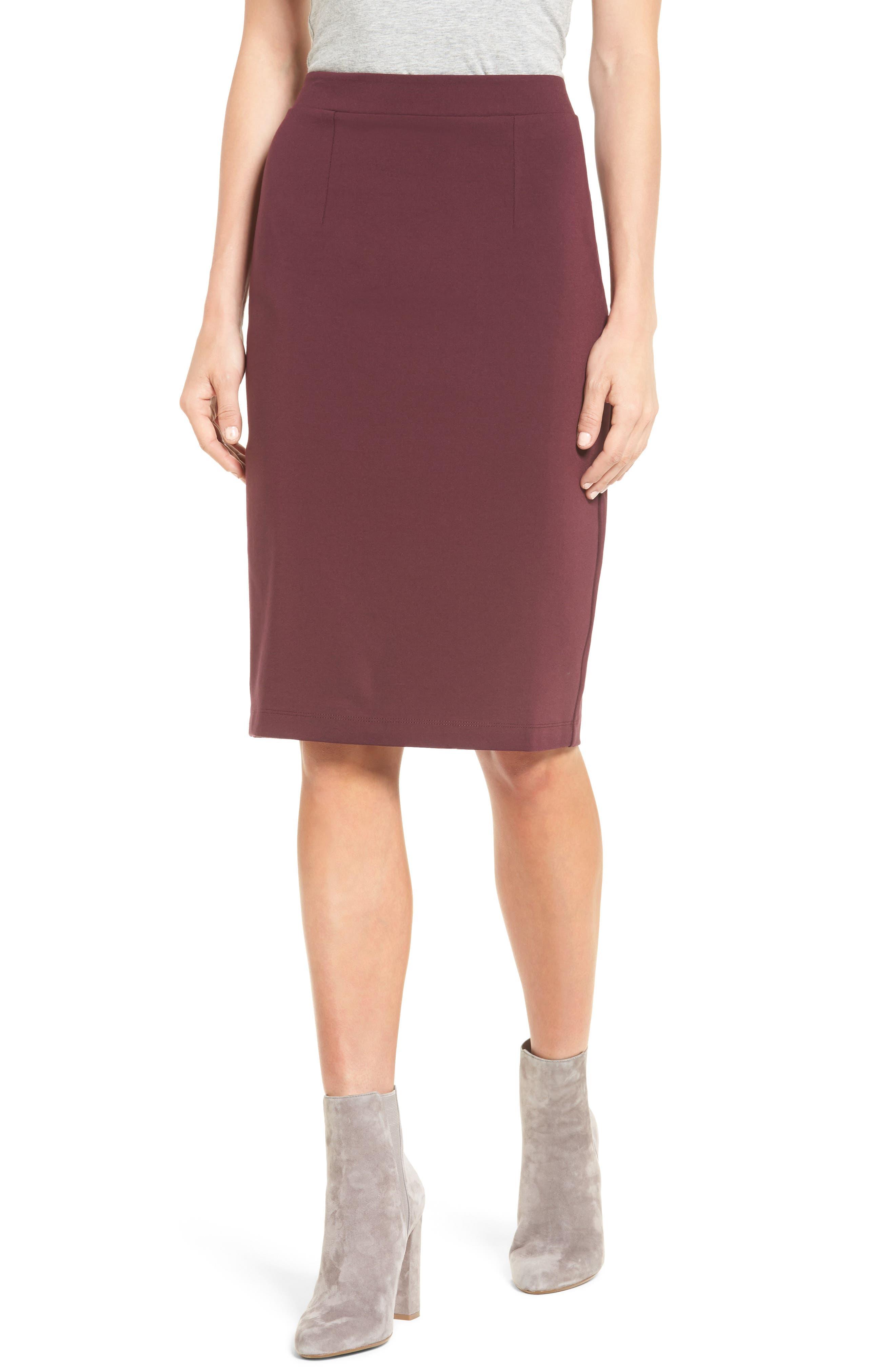 HALOGEN<SUP>®</SUP> Ponte Pencil Skirt