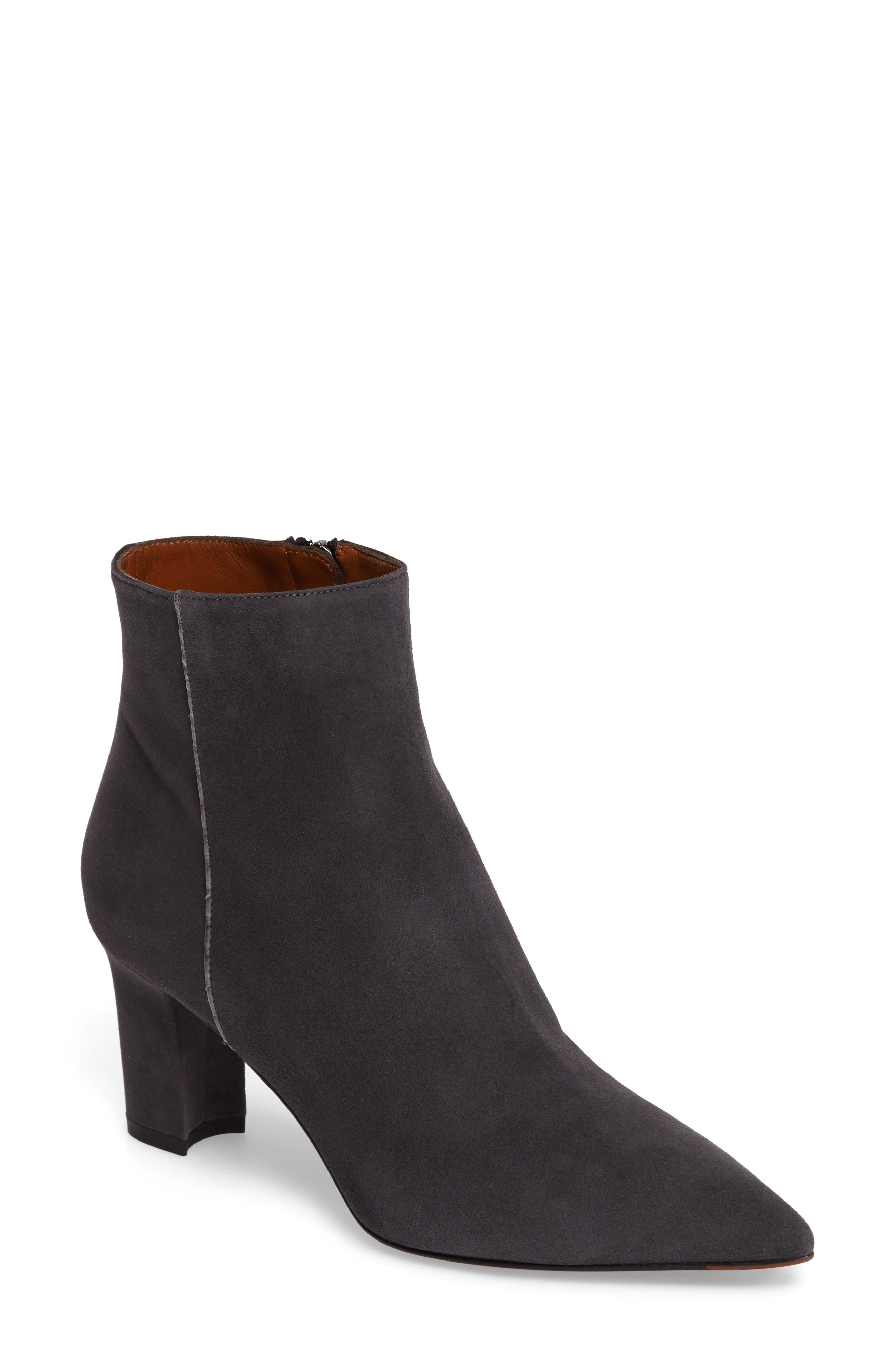 Maia Weatherproof Pointed Toe Bootie,                             Main thumbnail 1, color,                             Anthracite Suede