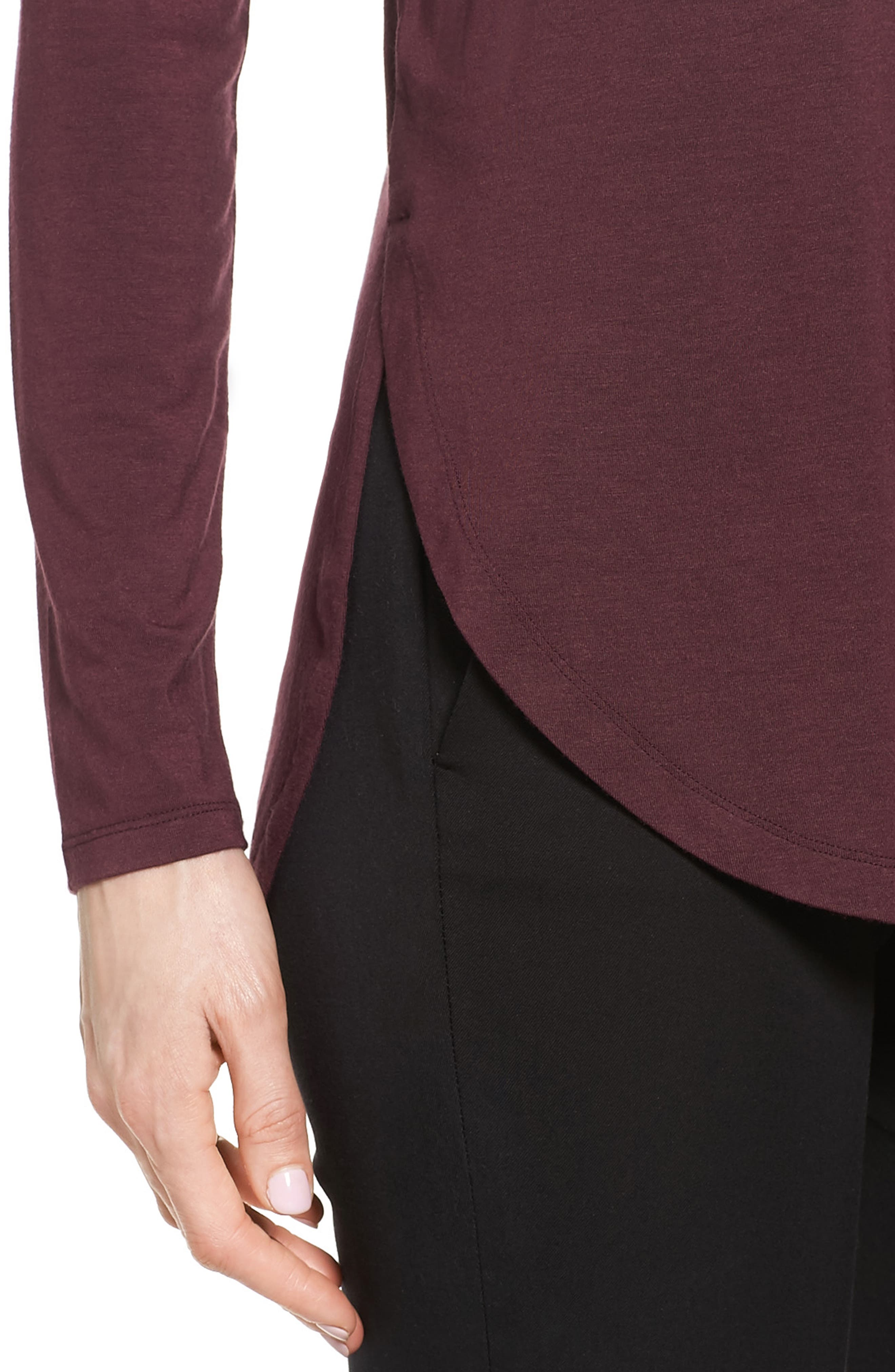 Alternate Image 4  - Halogen® Long Sleeve Knit Tunic (Regular & Petite)