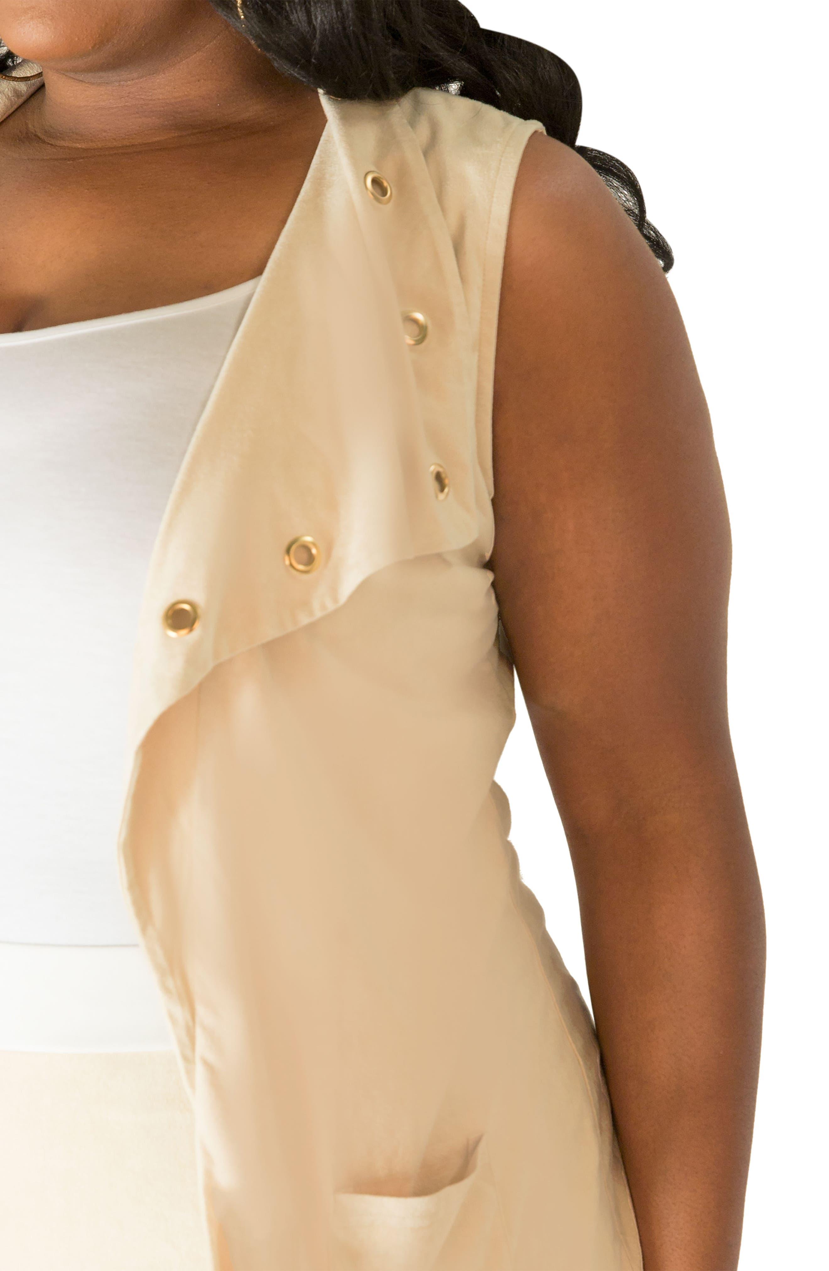 Alternate Image 5  - Poetic Justice Kelis Long Faux Suede Vest (Plus Size)