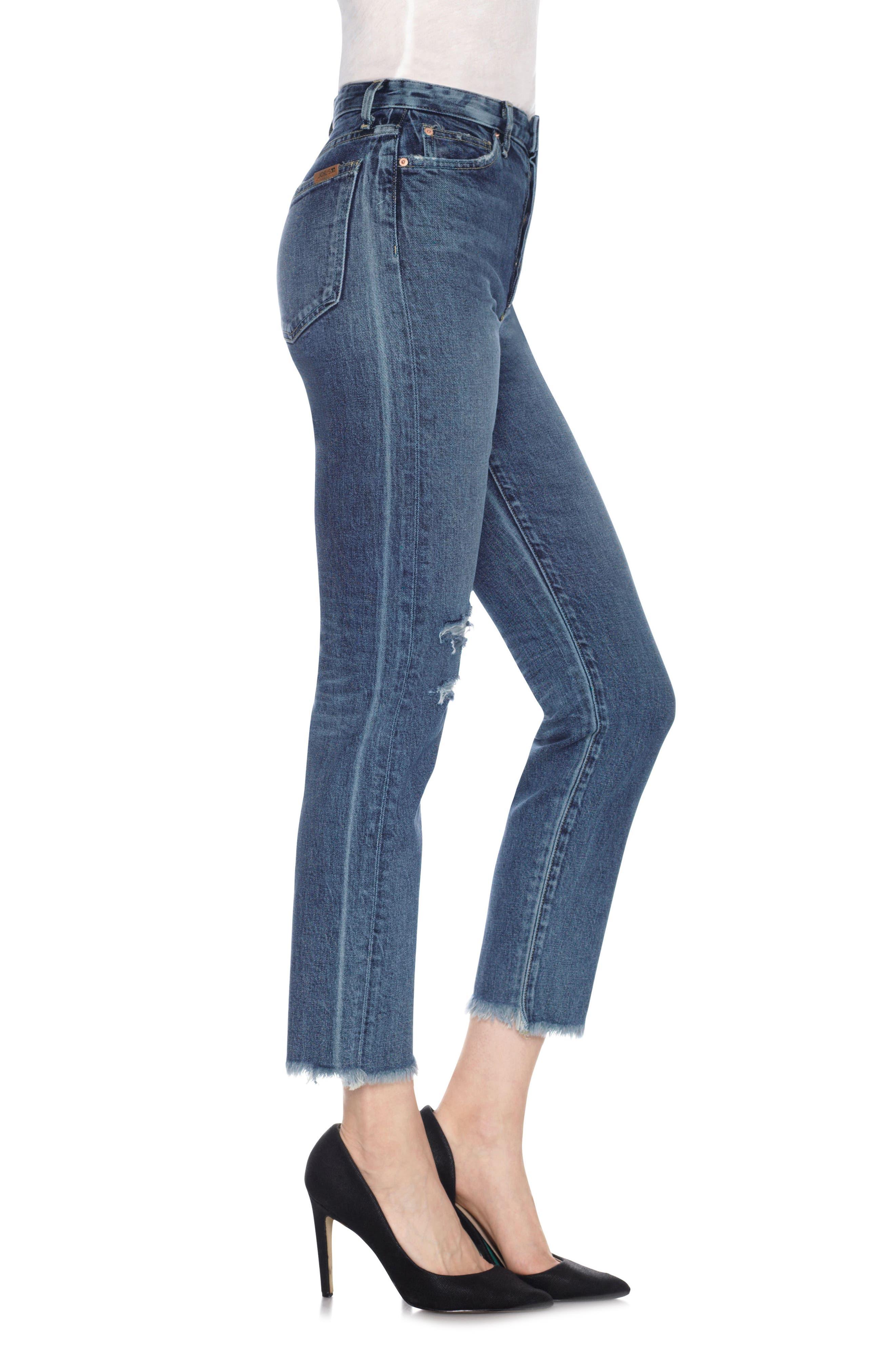 Taylor Hill x Joe's Debbie High Rise Ankle Jeans,                             Alternate thumbnail 3, color,                             Julee