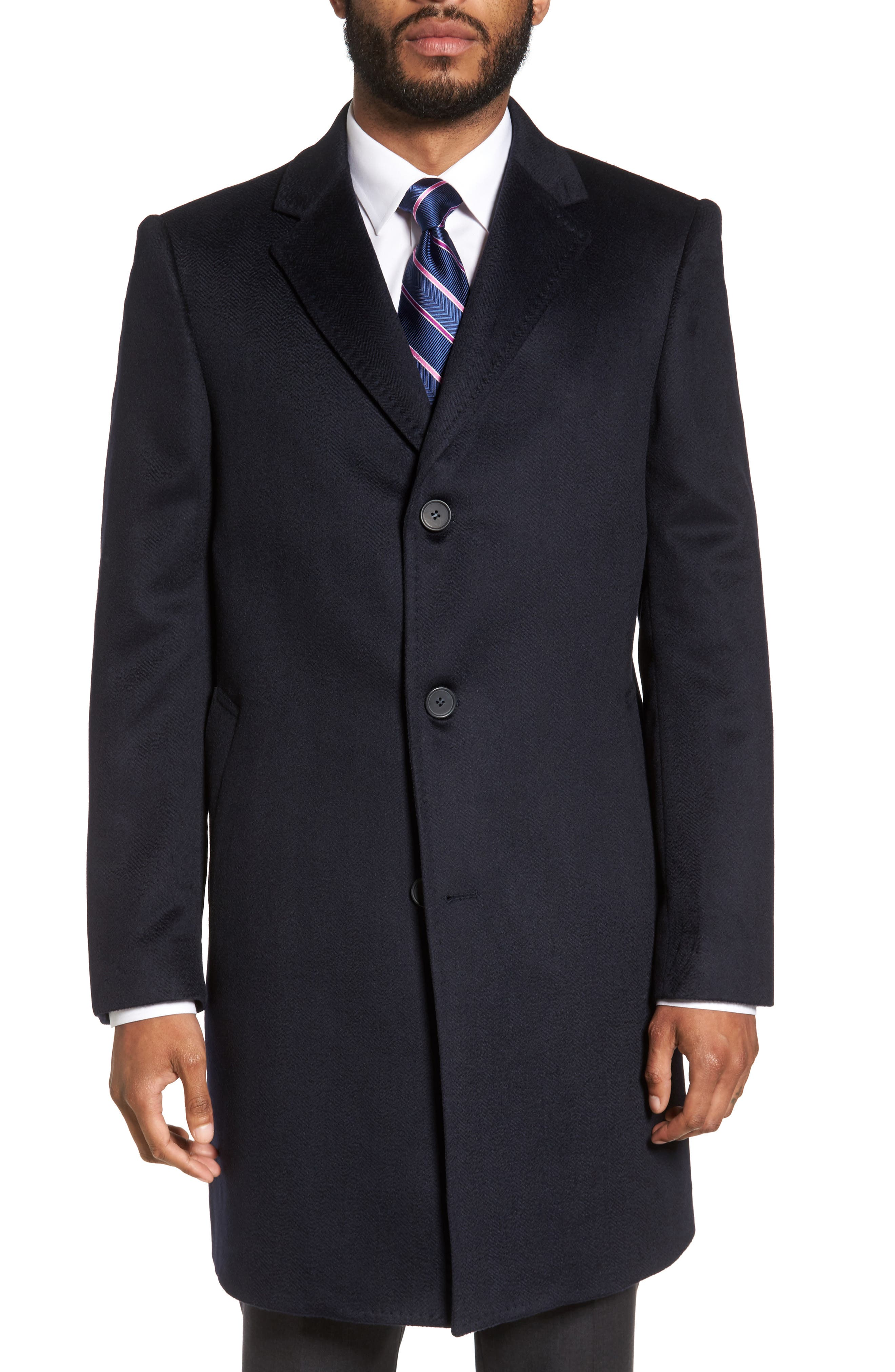 Culton Cashmere Overcoat,                         Main,                         color, Navy