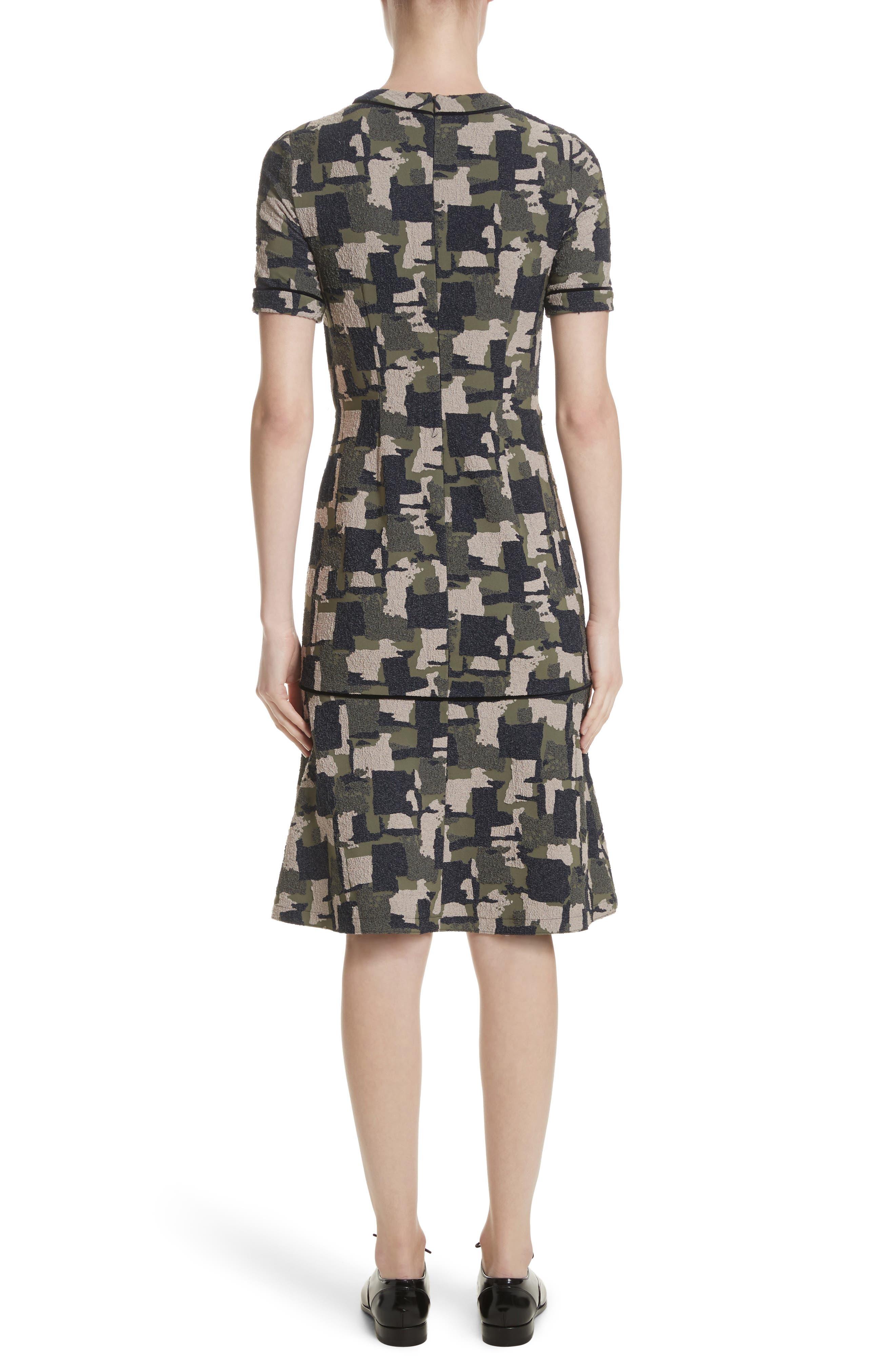 Alternate Image 2  - Yigal Azrouël Patchwork Stretch Jacquard Dress
