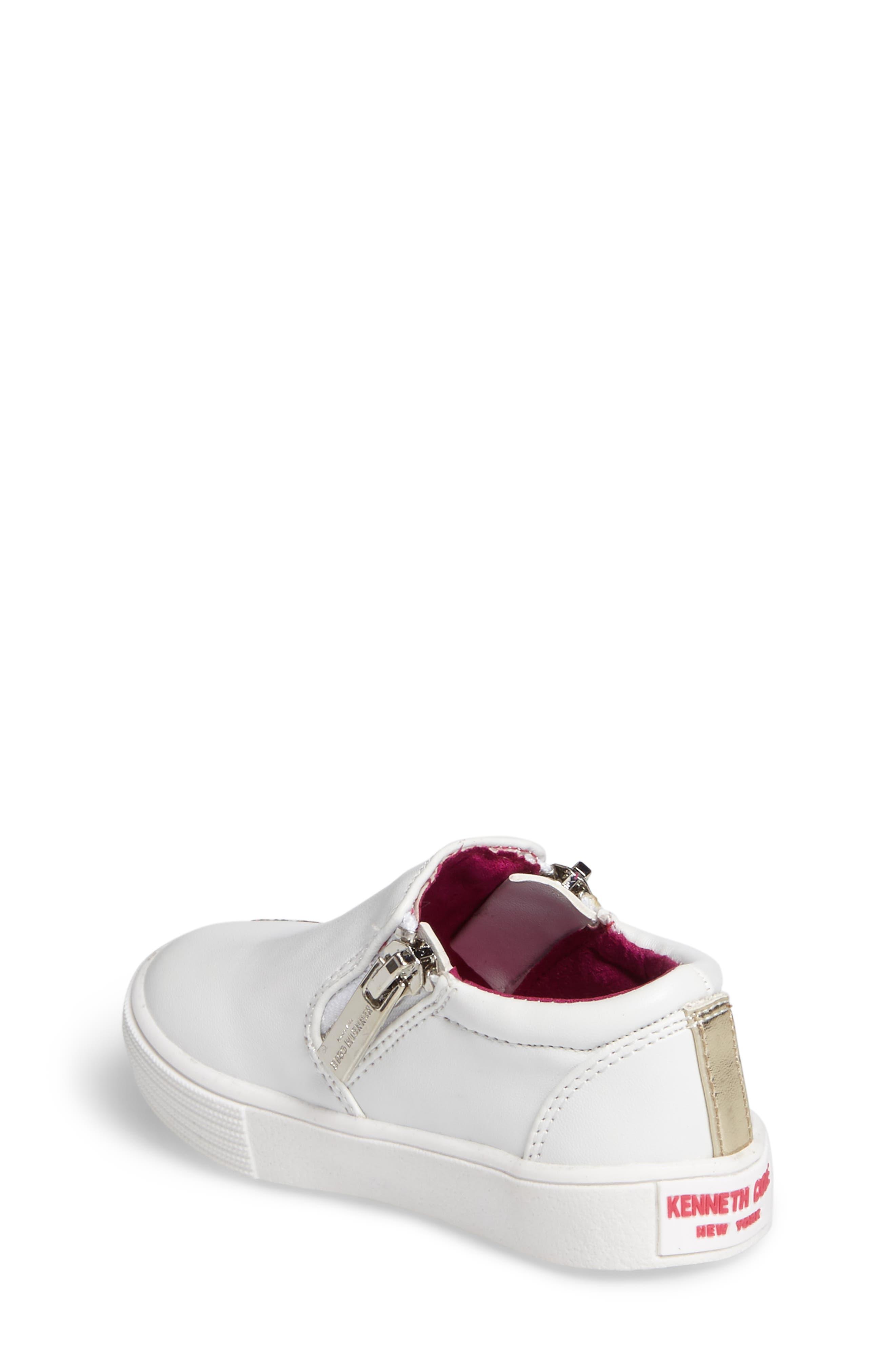 Alternate Image 2  - Kenneth Cole New York Kam Dory Embroidered Zip Sneaker (Walker & Toddler)