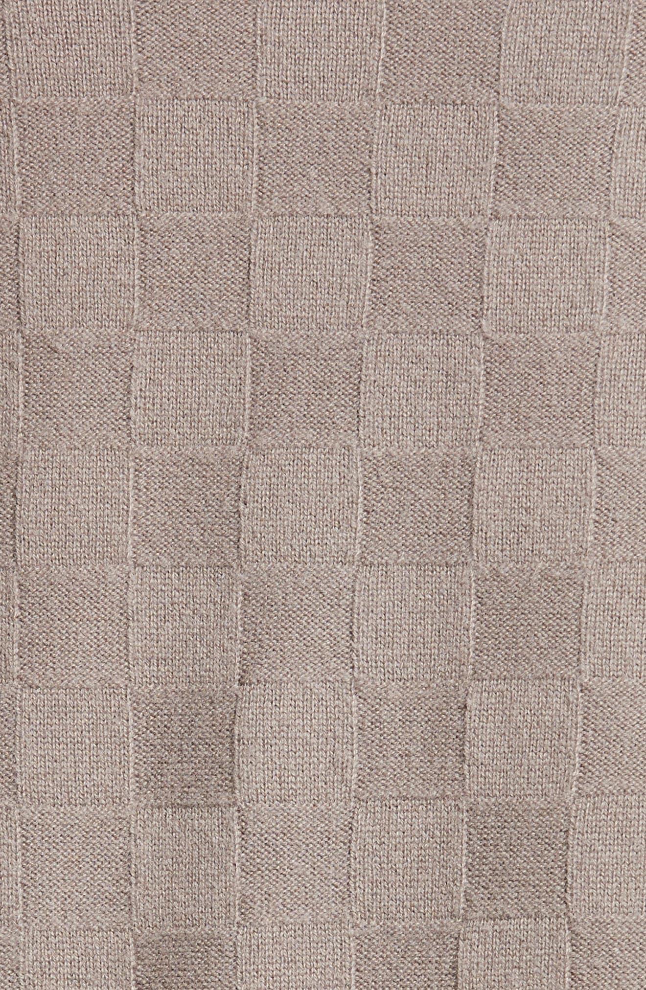 Alternate Image 3  - Armani Collezioni Checkerboard Cashmere Drape Cardigan