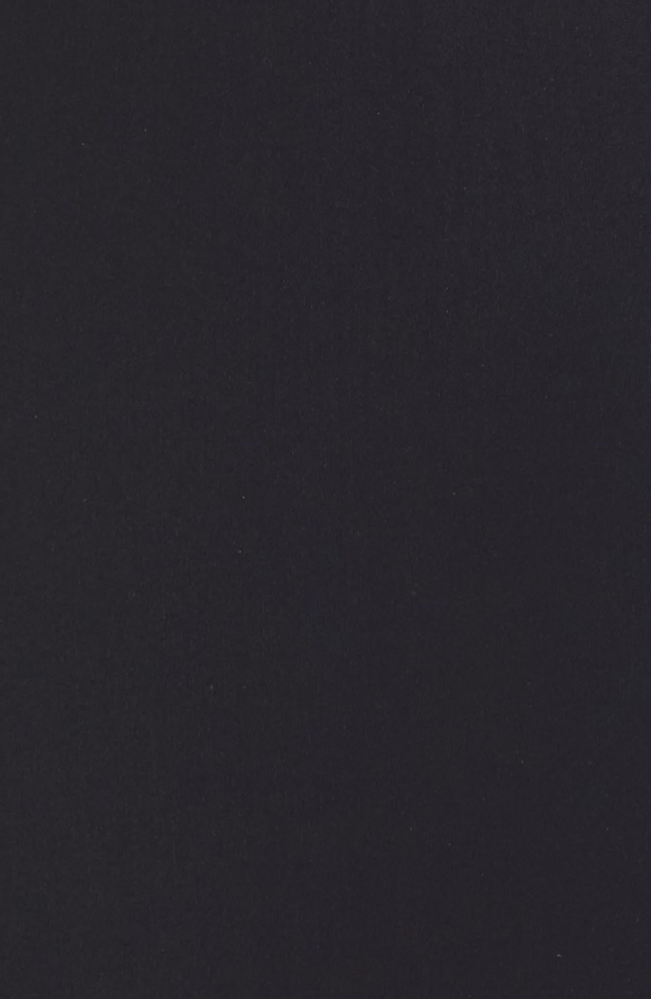 Belle Curve Peplum One-Piece Swimsuit,                             Alternate thumbnail 5, color,                             Black/ White