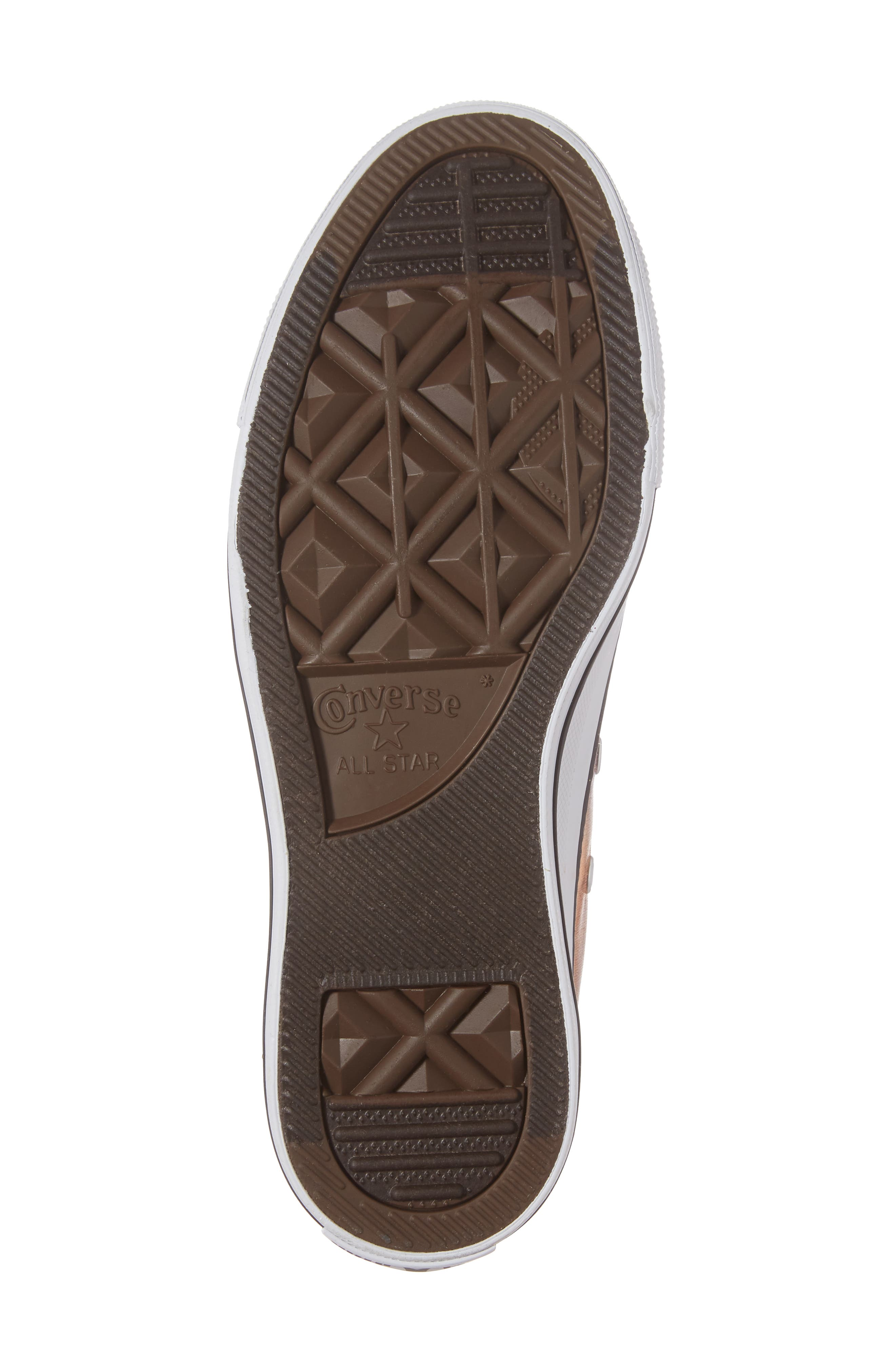 Chuck Taylor<sup>®</sup> All Star<sup>®</sup> Seasonal Metallic Ox Low Top Sneaker,                             Alternate thumbnail 6, color,                             Dusk Pink