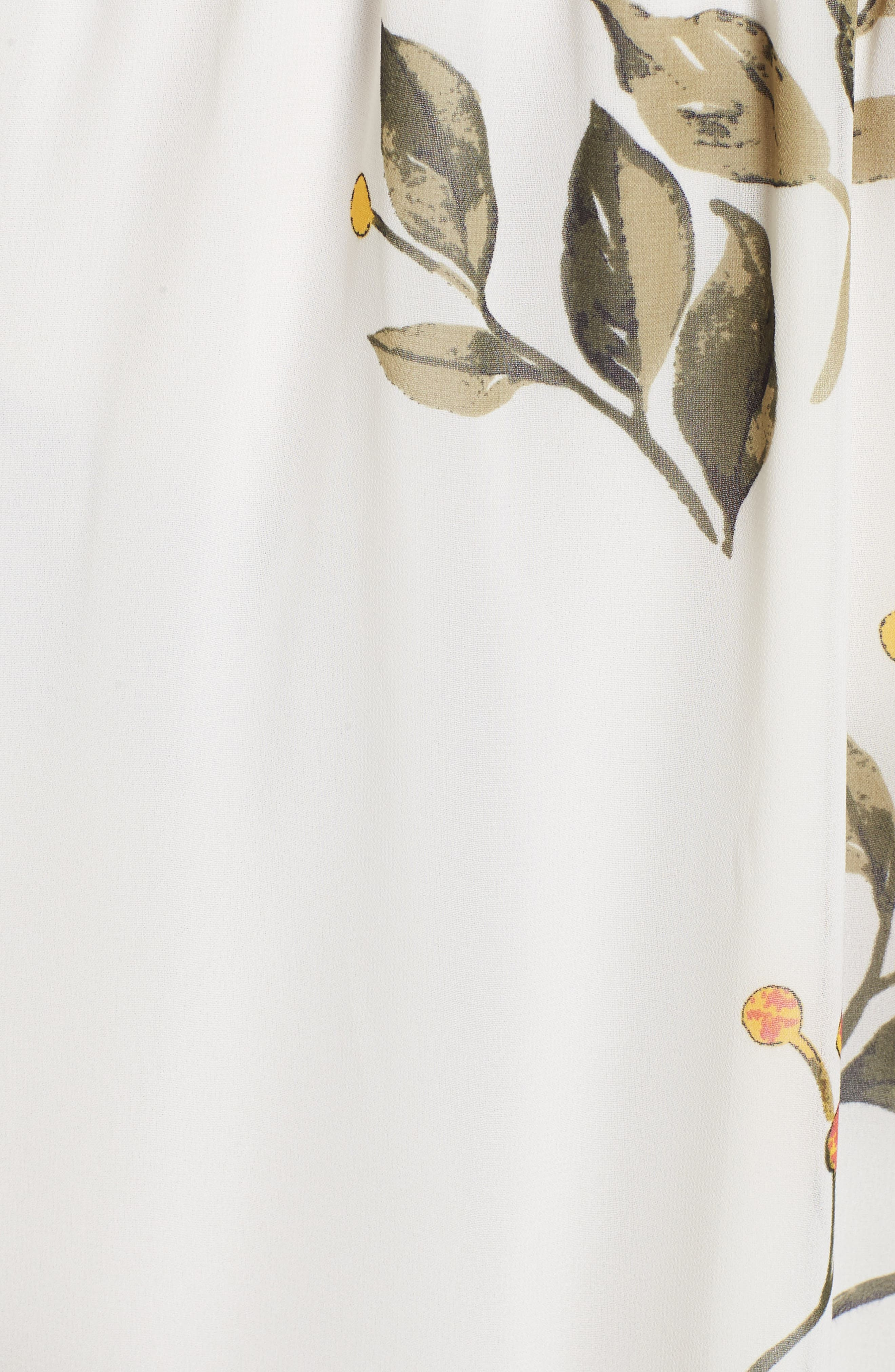 Floral Off the Shoulder Dress,                             Alternate thumbnail 5, color,                             Ivory Floral